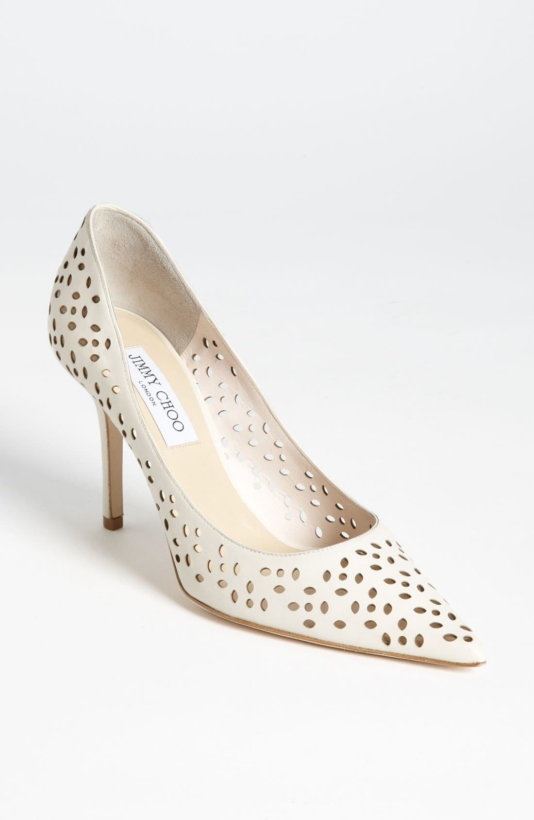 Alternate Image 1 Selected - Jimmy Choo 'Agnes' Perforated Pump