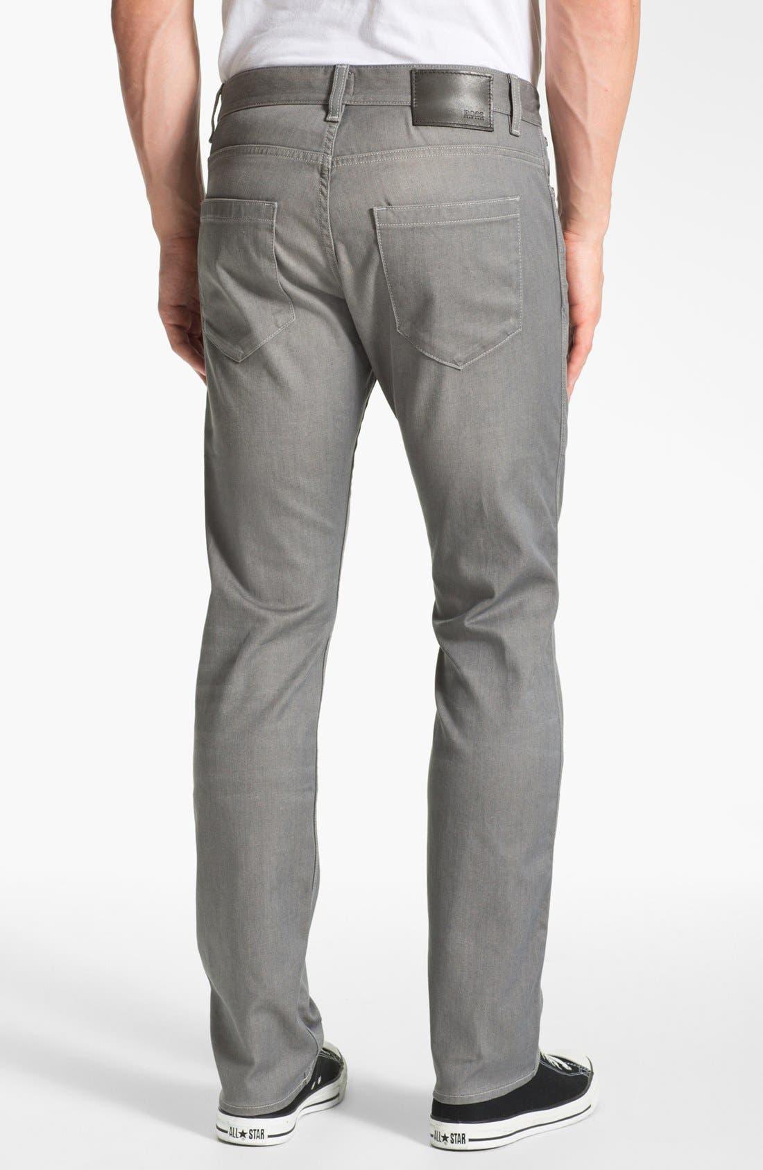 Alternate Image 2  - BOSS HUGO BOSS 'Delaware' Slim Fit Jeans (Grey Denim)