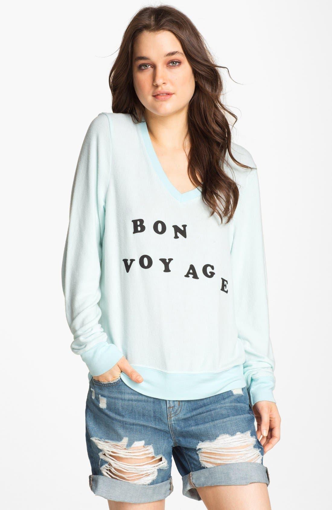 Alternate Image 1 Selected - Wildfox 'Bon Voyage' Graphic Sweatshirt (Nordstrom Exclusive)