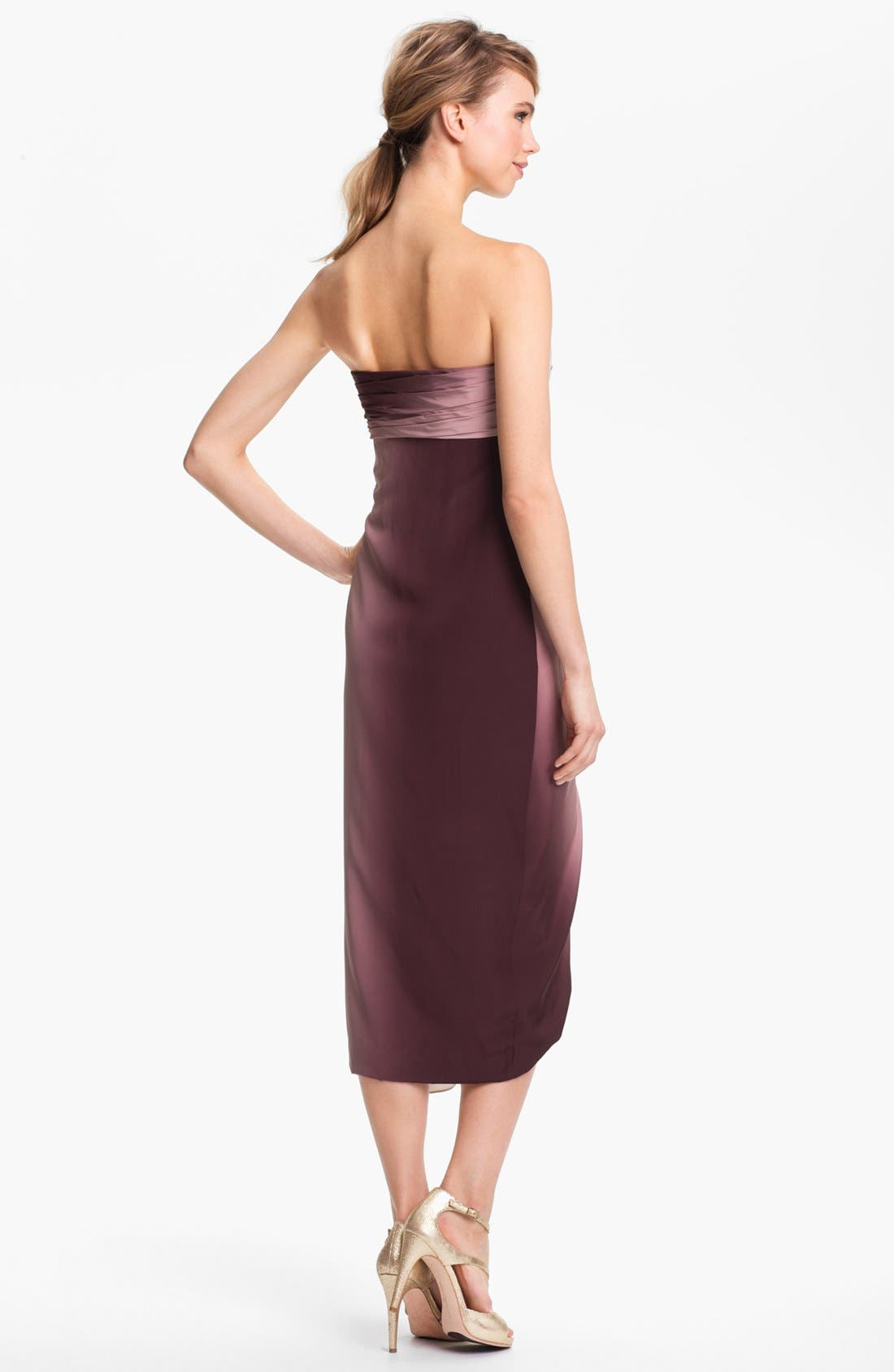 Alternate Image 2  - Diane von Furstenberg 'Sierra' Draped Silk Midi Dress