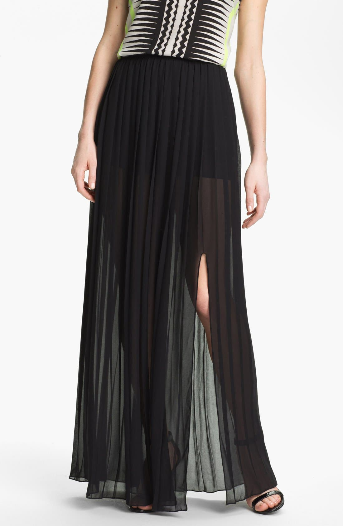 Alternate Image 1 Selected - Vince Camuto Pleat Maxi Skirt