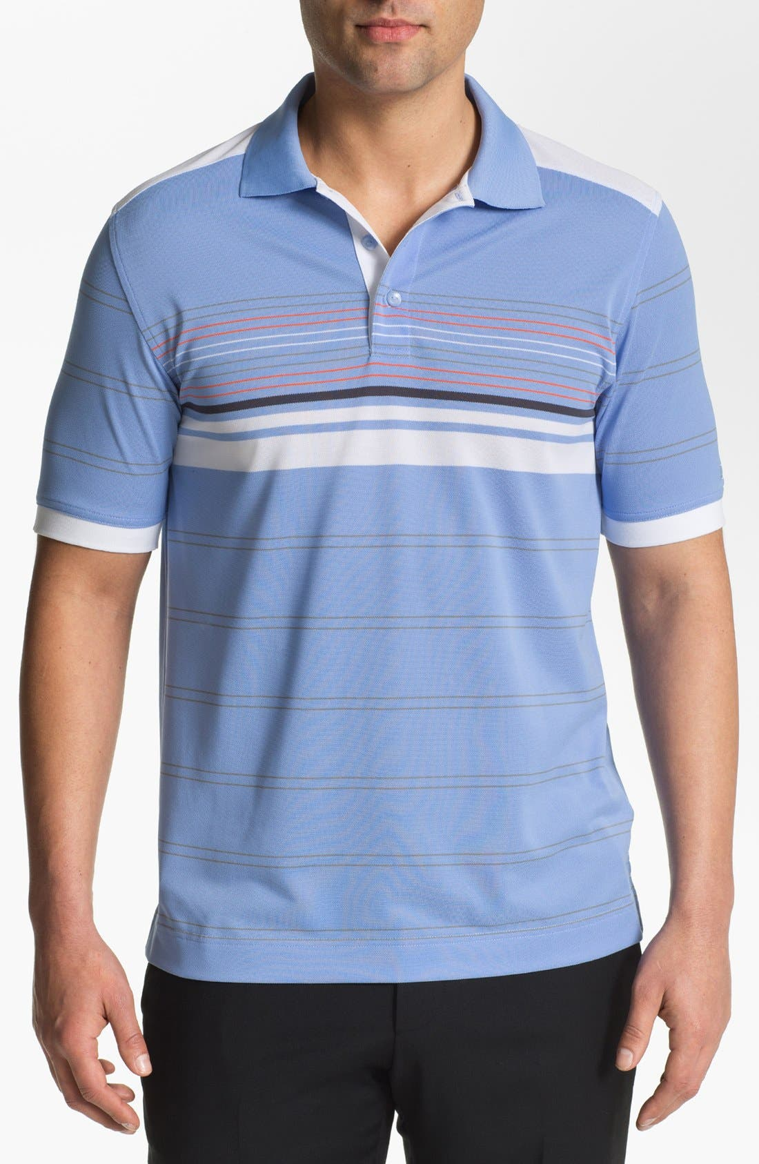 Alternate Image 1 Selected - Cutter & Buck 'Olympic Stripe' DryTec Polo