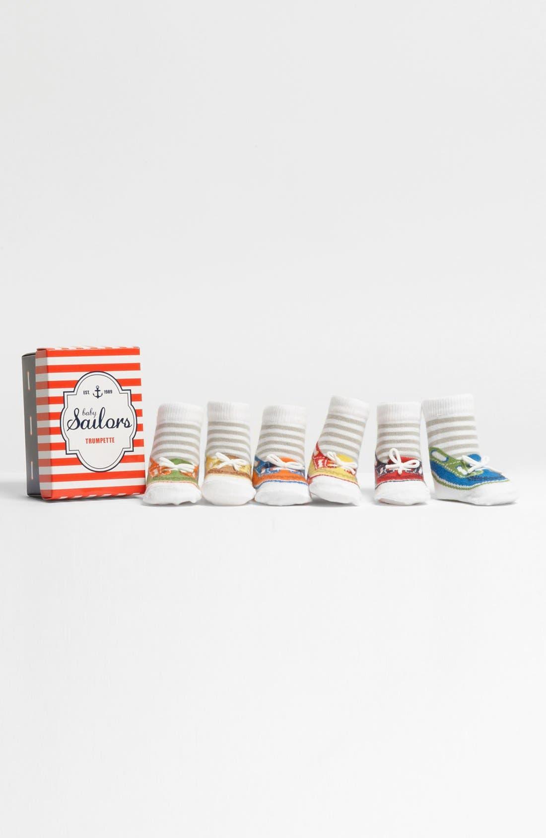Alternate Image 1 Selected - Trumpette 'Sailor' Socks (6-Pack)(Baby Boys)