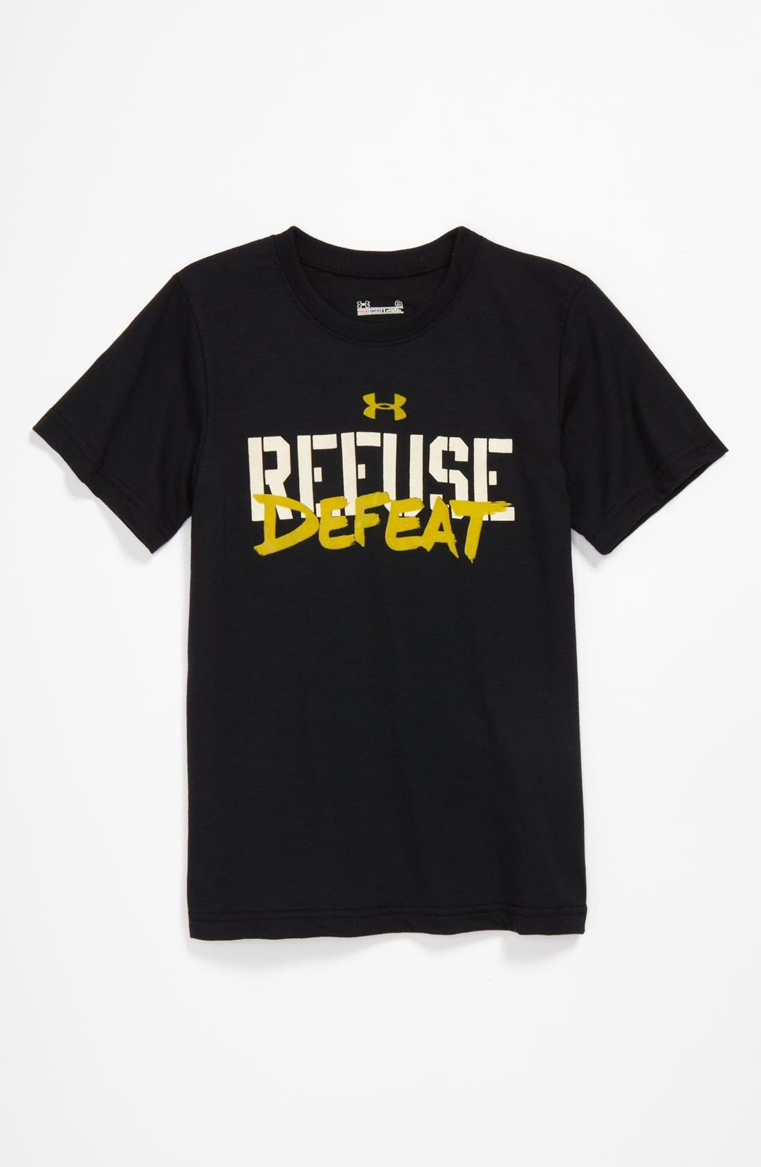 Alternate Image 1 Selected - Under Armour 'Refuse Defeat' T-Shirt (Little Boys)