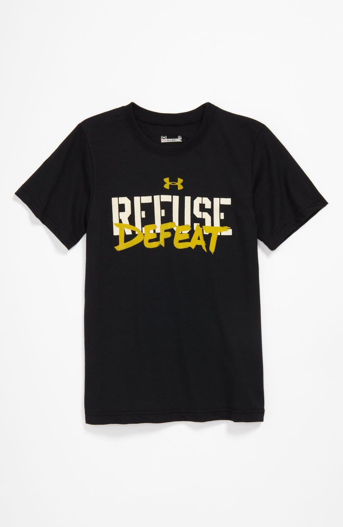 Main Image - Under Armour 'Refuse Defeat' T-Shirt (Little Boys)