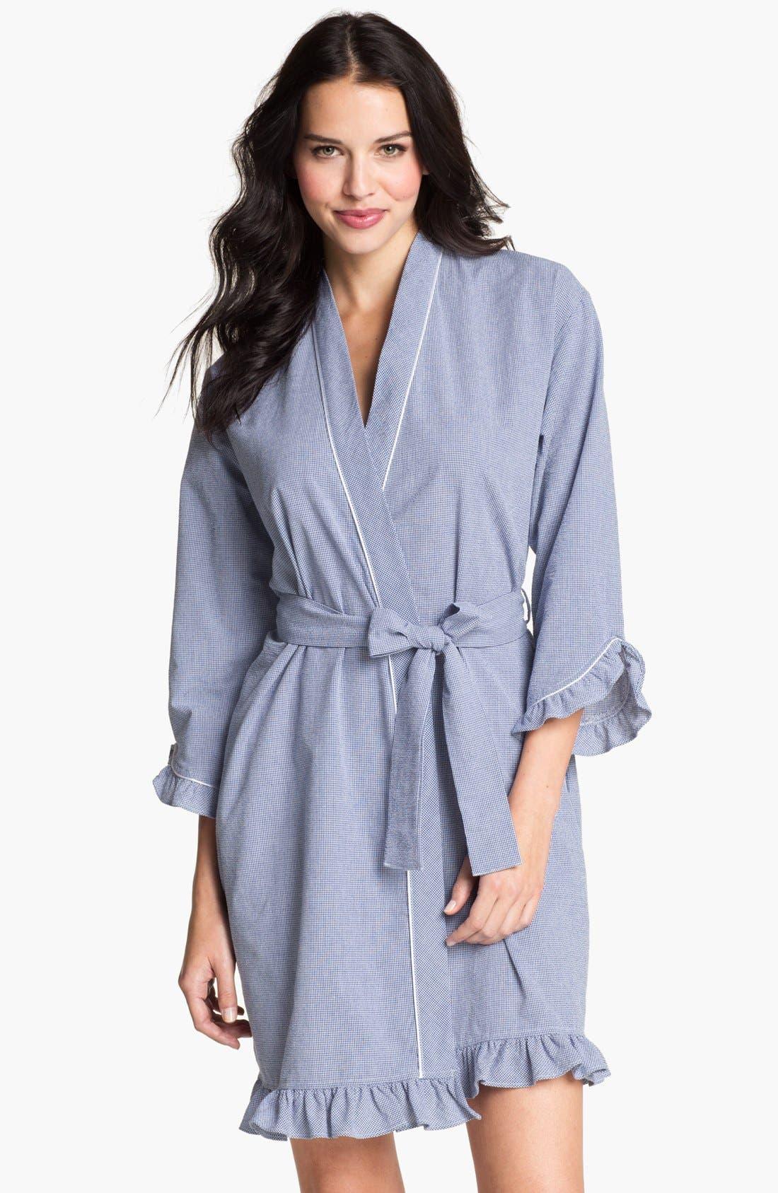Main Image - Eileen West 'Starfish' Short Ruffled Robe