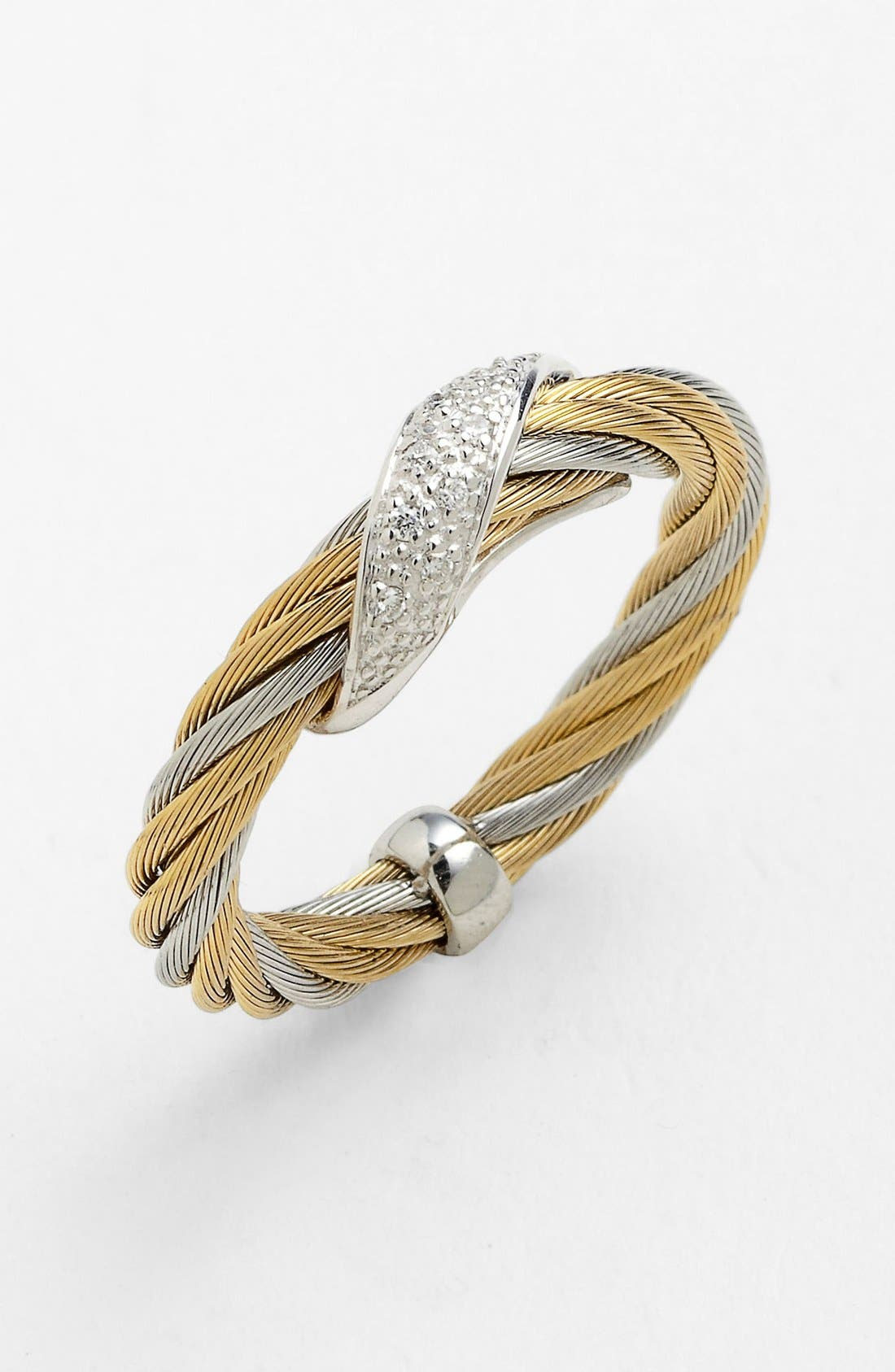 Main Image - ALOR® Diamond Wave Twist Ring