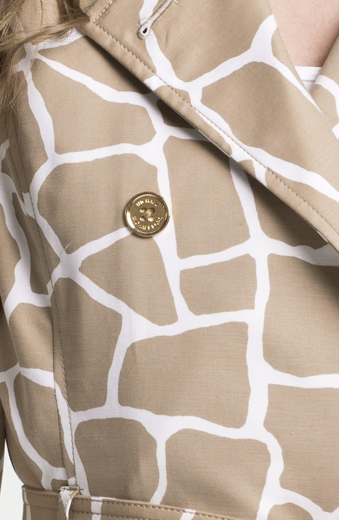 Alternate Image 3  - MICHAEL Michael Kors Giraffe Print Trench Coat (Petite)