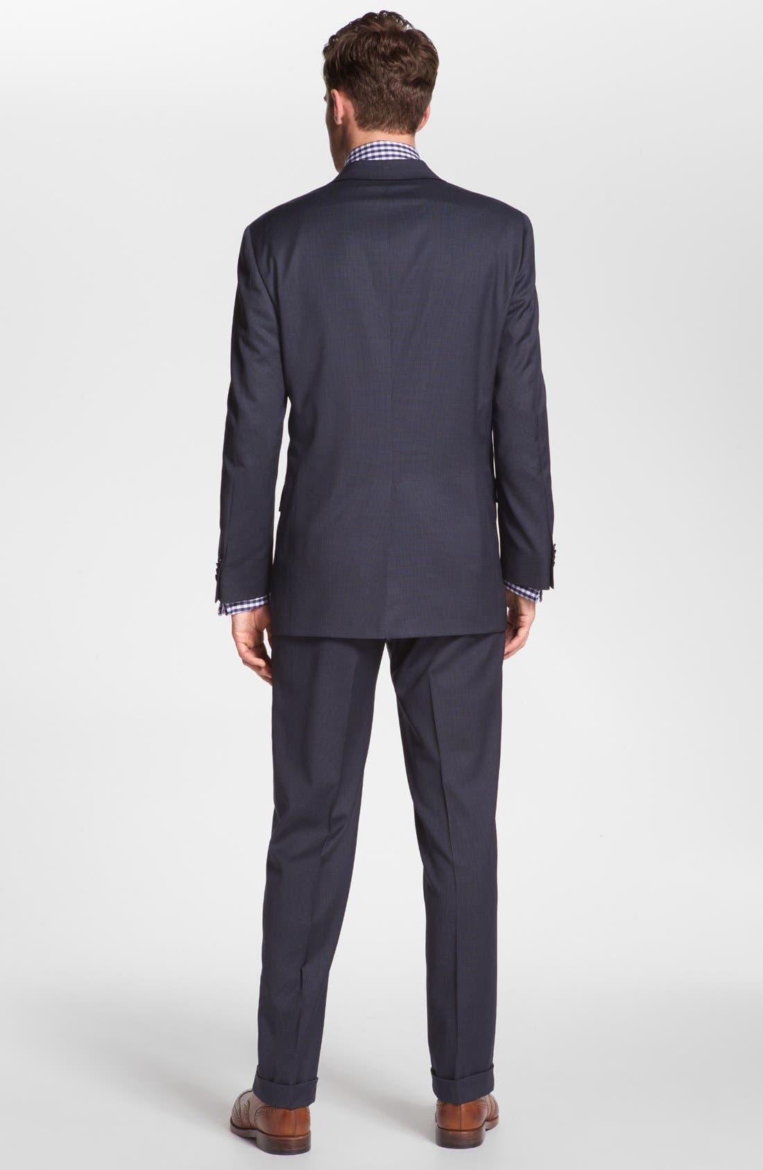 Alternate Image 3  - Hart Schaffner Marx Worsted Wool Suit