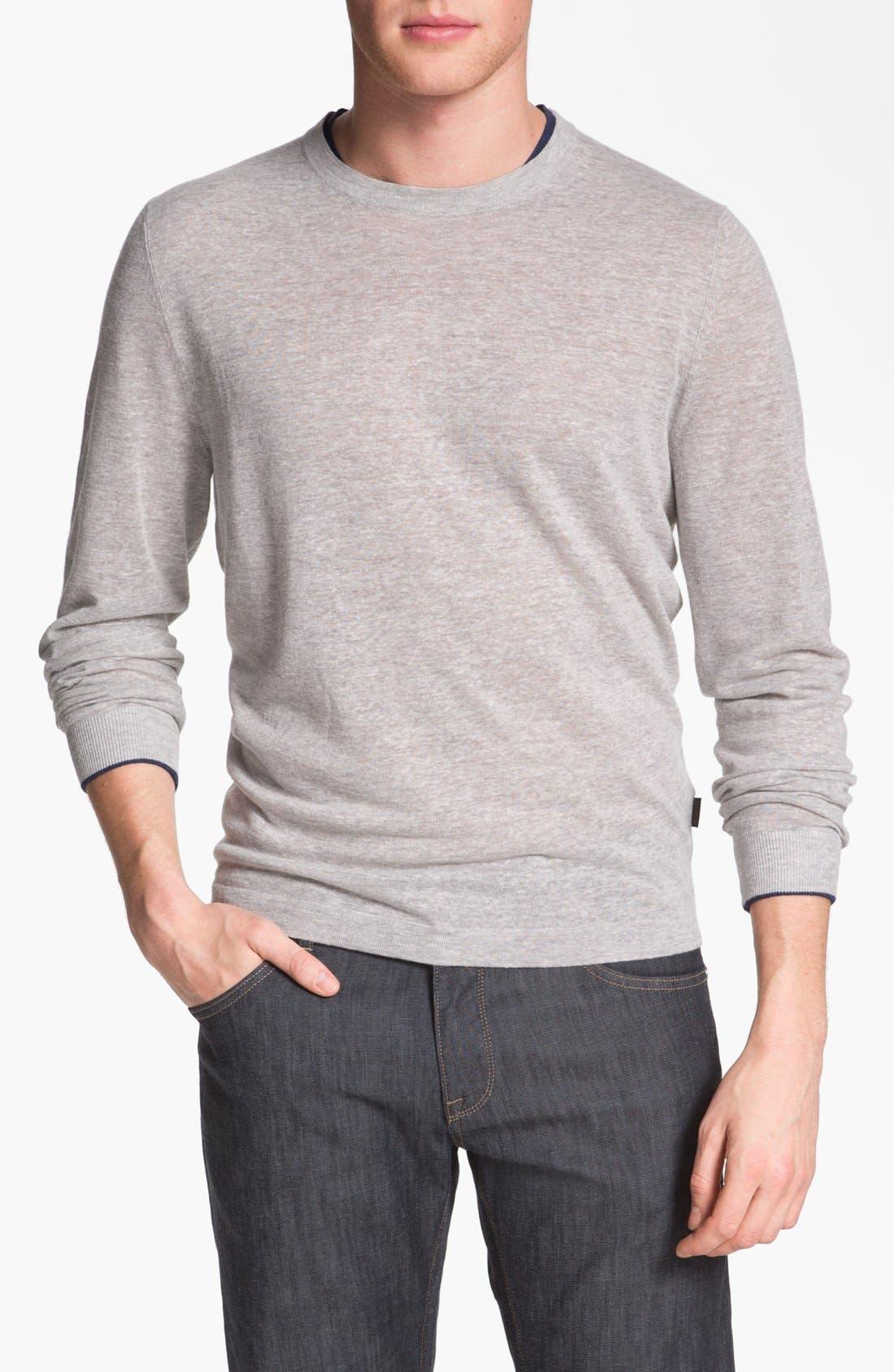 Main Image - BOSS HUGO BOSS 'Franz' Linen Blend Sweater