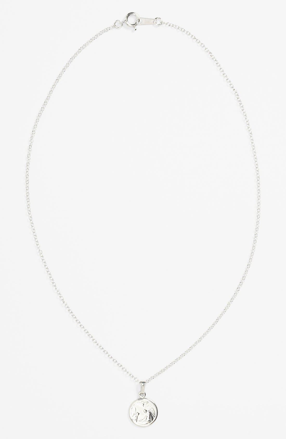 Alternate Image 1 Selected - Sterling Silver Guardian Angel Necklace (Infant)