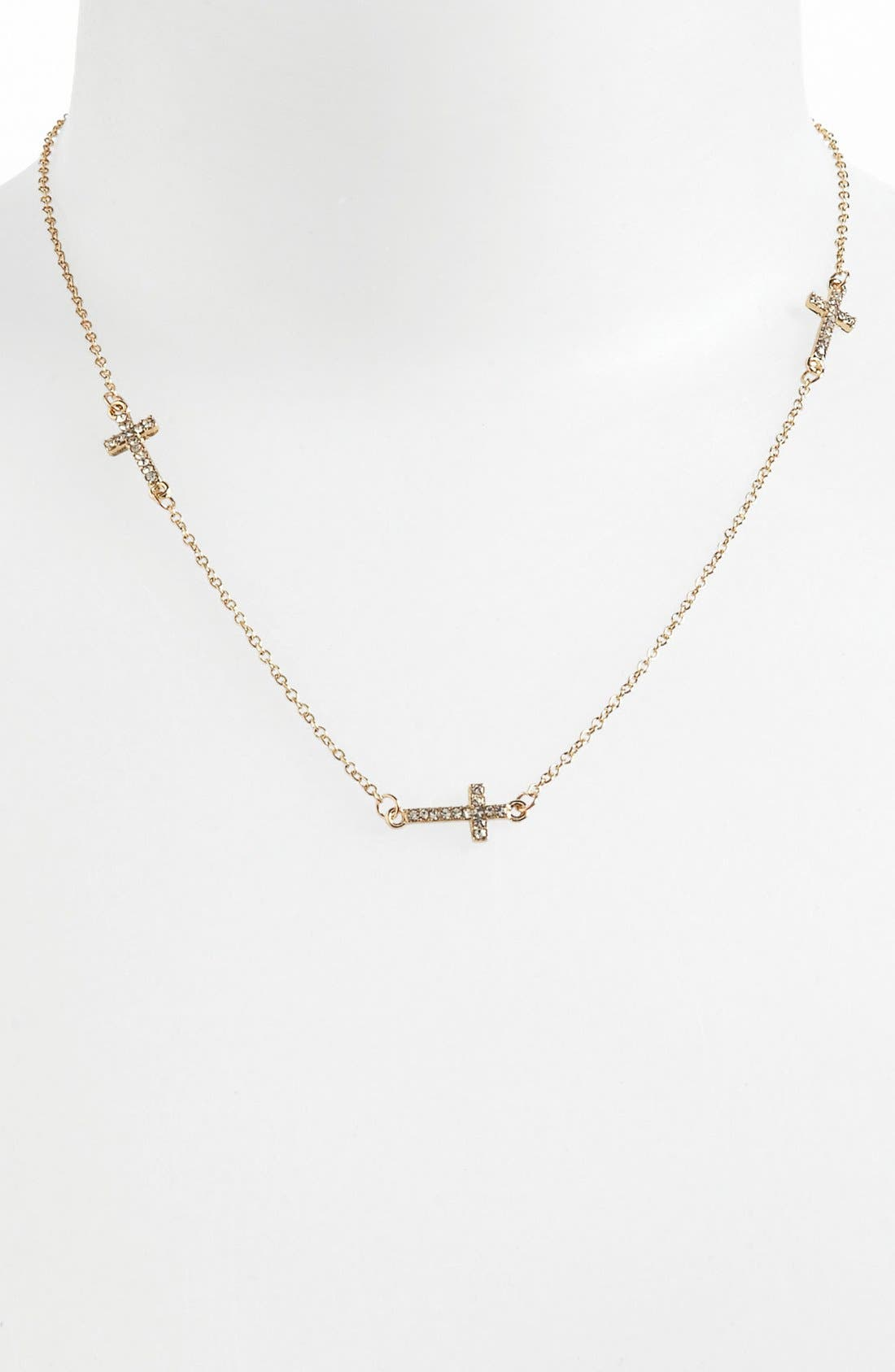 Alternate Image 1 Selected - Devan 'Dainty Cross' Necklace