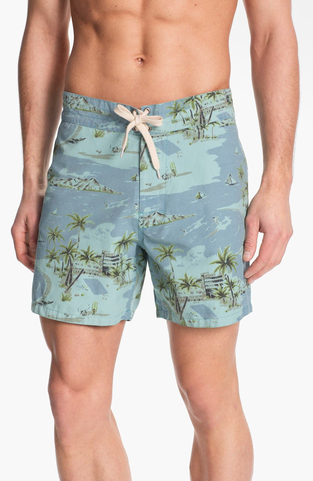 Alternate Image 1 Selected - Lightning Bolt 'Pelican' Print Board Shorts