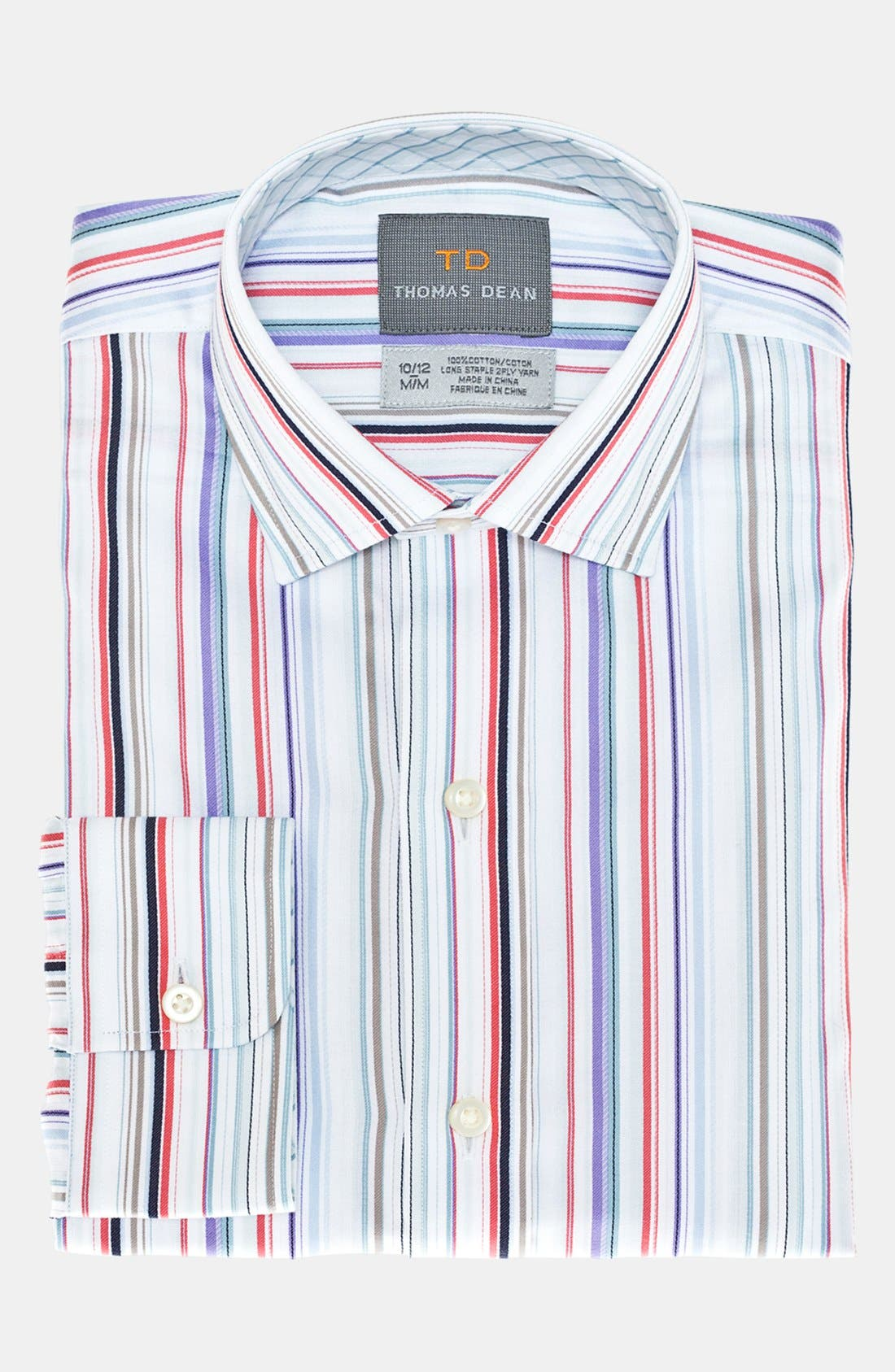 Alternate Image 1 Selected - Thomas Dean Stripe Dress Shirt (Big Boys)