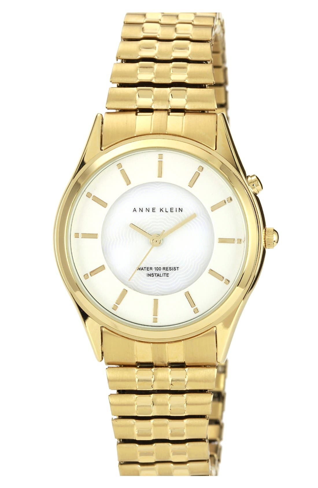Main Image - Anne Klein Round Expandable Bracelet Watch, 34mm