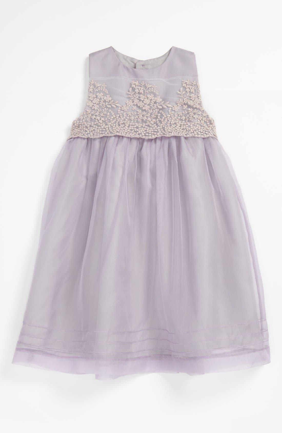 Alternate Image 1 Selected - Luli & Me Organza Dress (Baby)