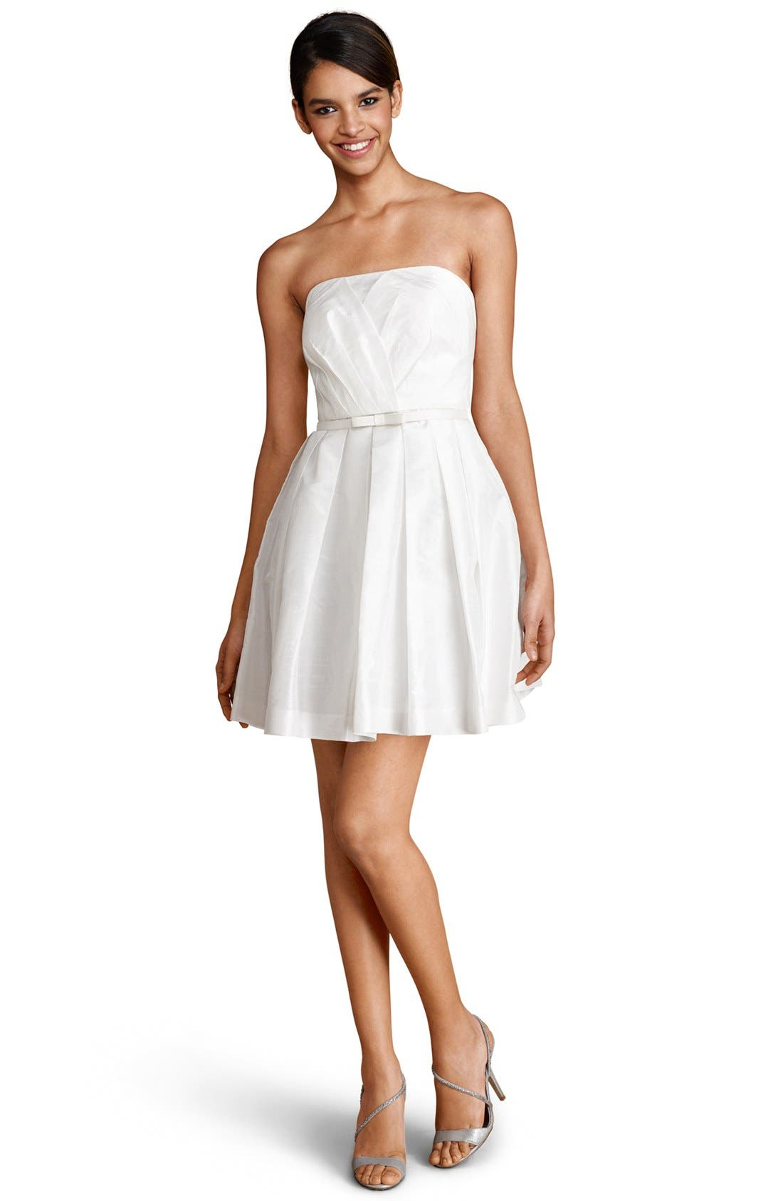 Alternate Image 1 Selected - Donna Morgan Strapless Fit & Flare Dress (Online Only)