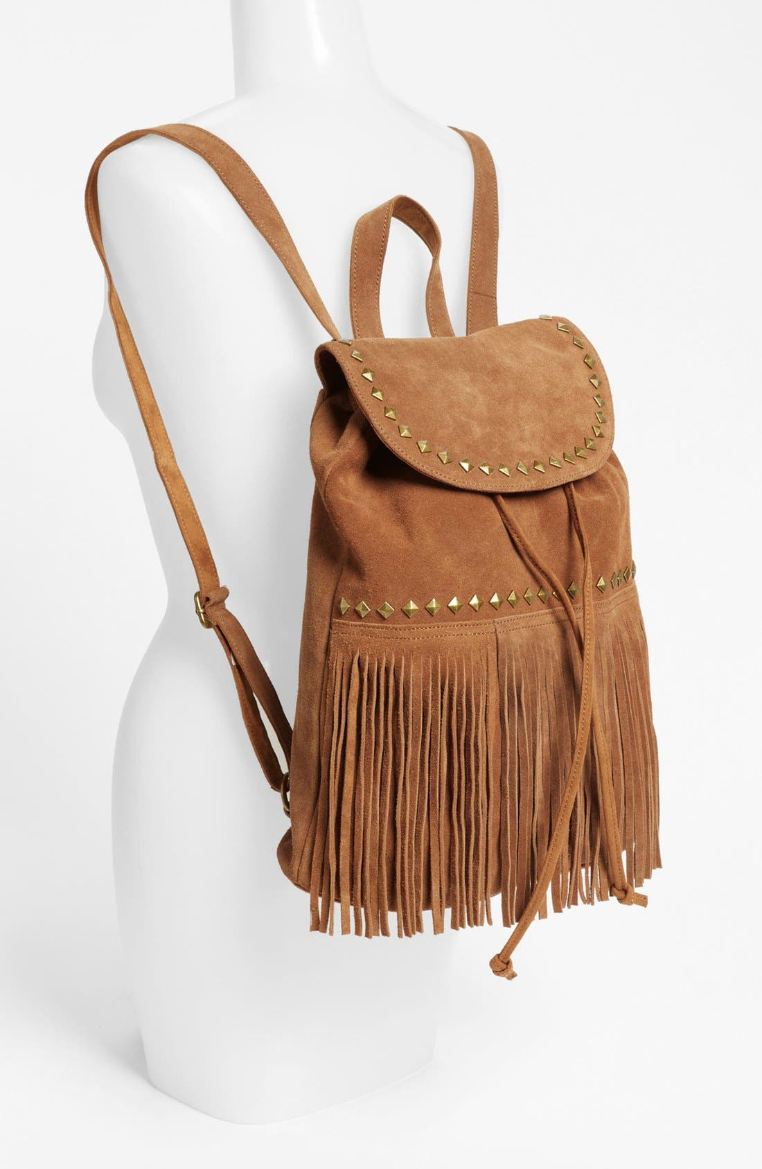 Alternate Image 2  - Steve Madden Fringed Suede Backpack (Juniors)