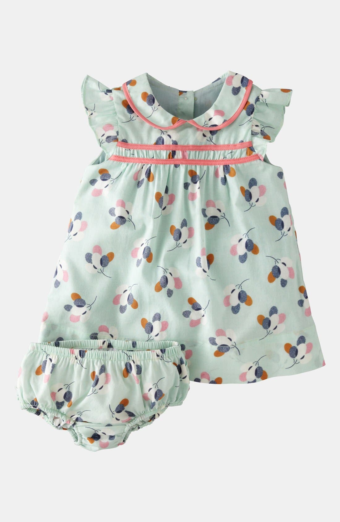 Alternate Image 1 Selected - Mini Boden 'Pretty Tea' Dress & Bloomers (Baby)