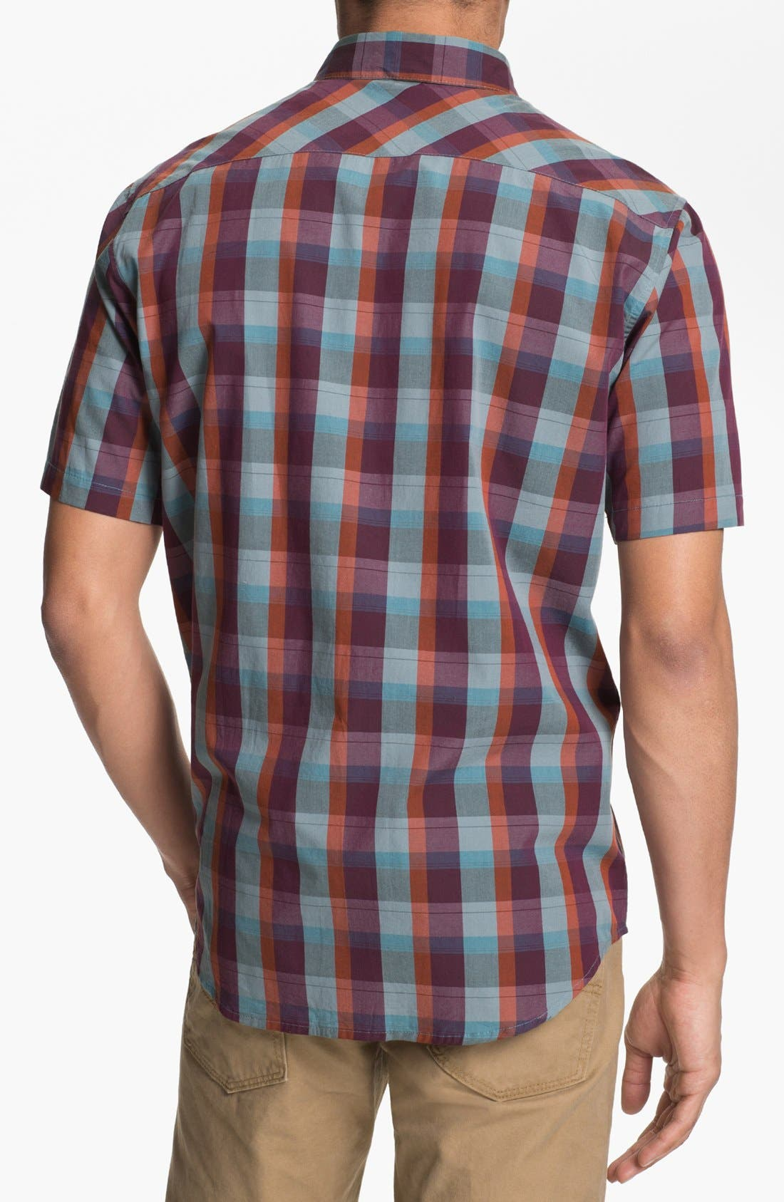 Alternate Image 2  - RVCA 'Mingus' Plaid Woven Shirt
