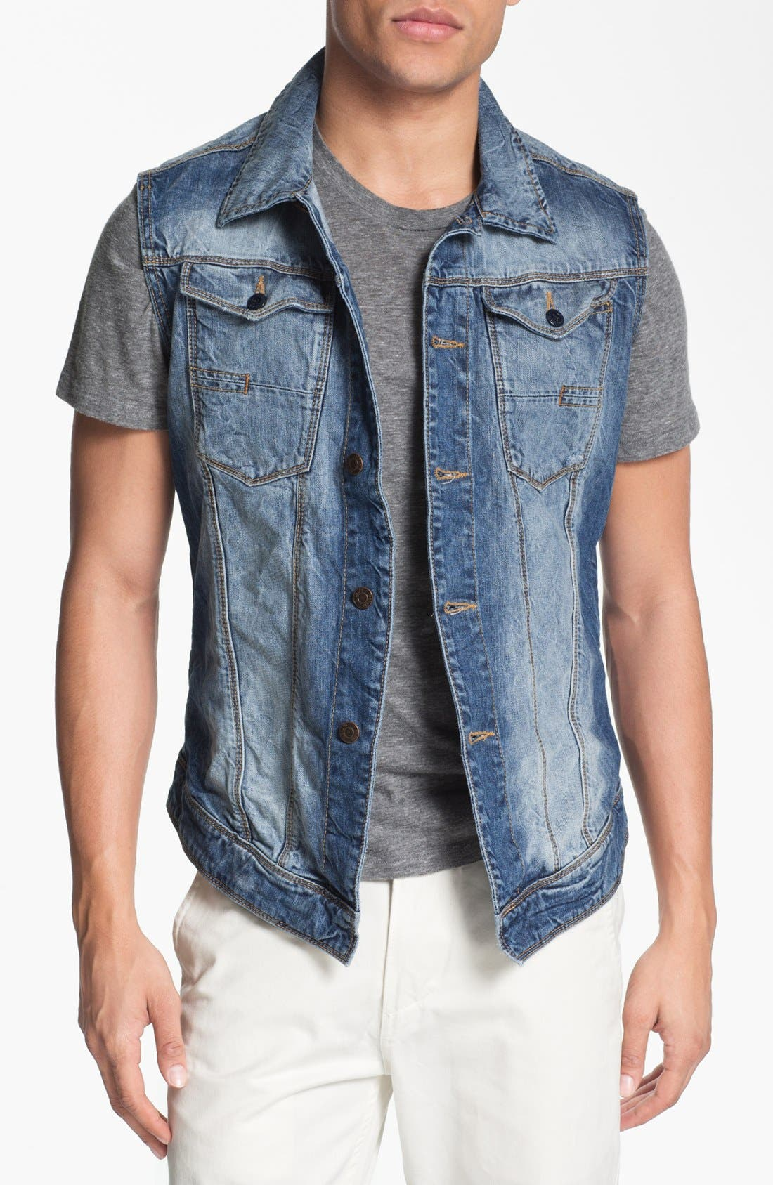Alternate Image 1 Selected - Antony Morato Denim Vest