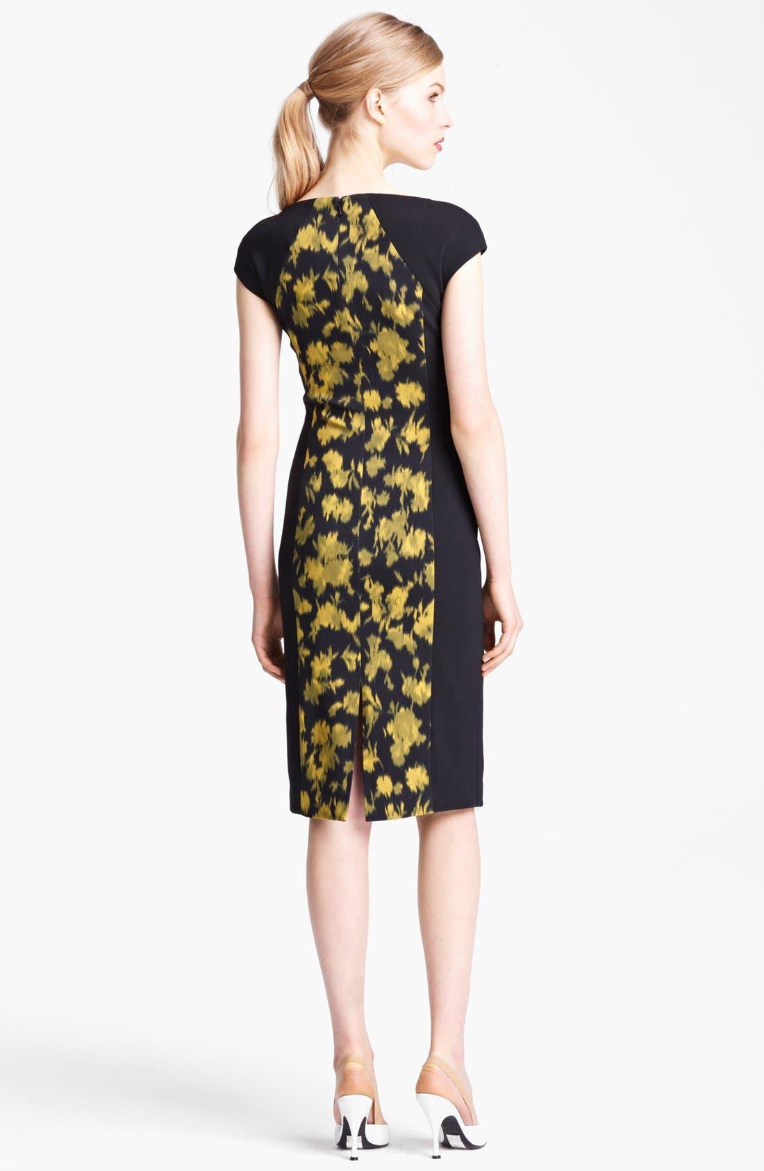 Alternate Image 2  - Michael Kors Leaf Print Sheath Dress