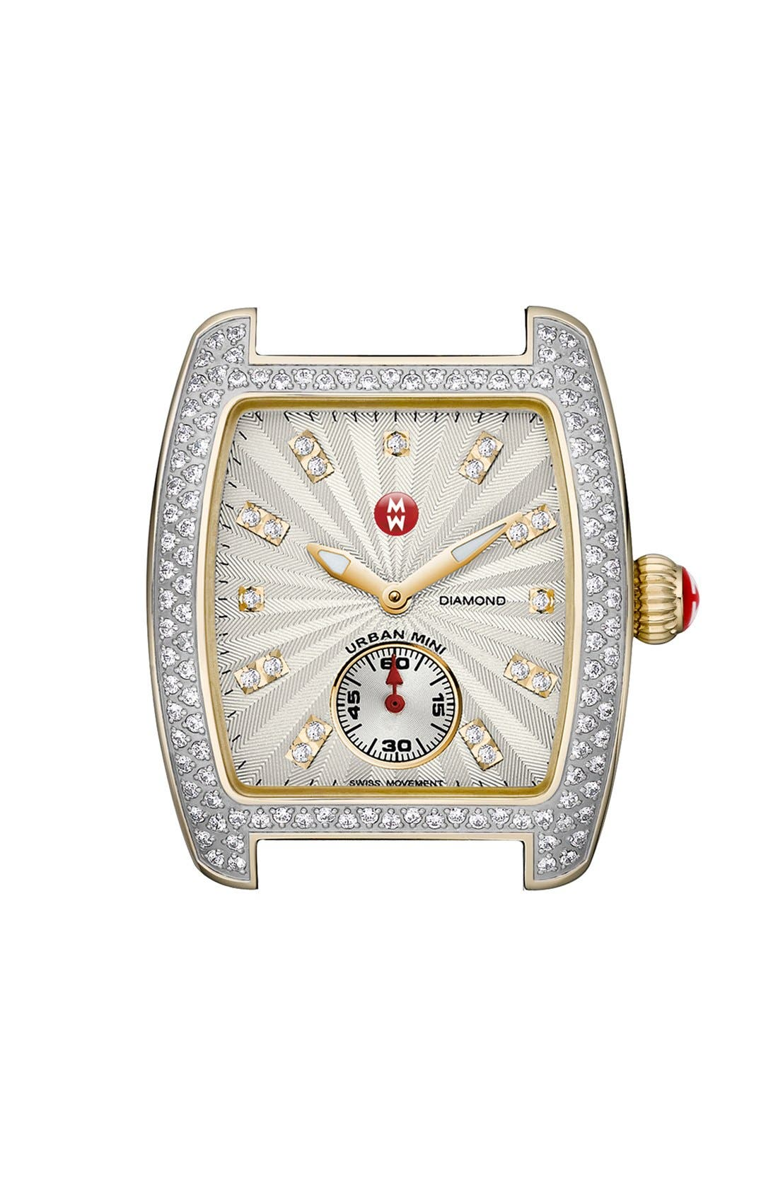 Main Image - MICHELE 'Urban Mini Diamond' Two-Tone Watch Case, 29mm x 30mm