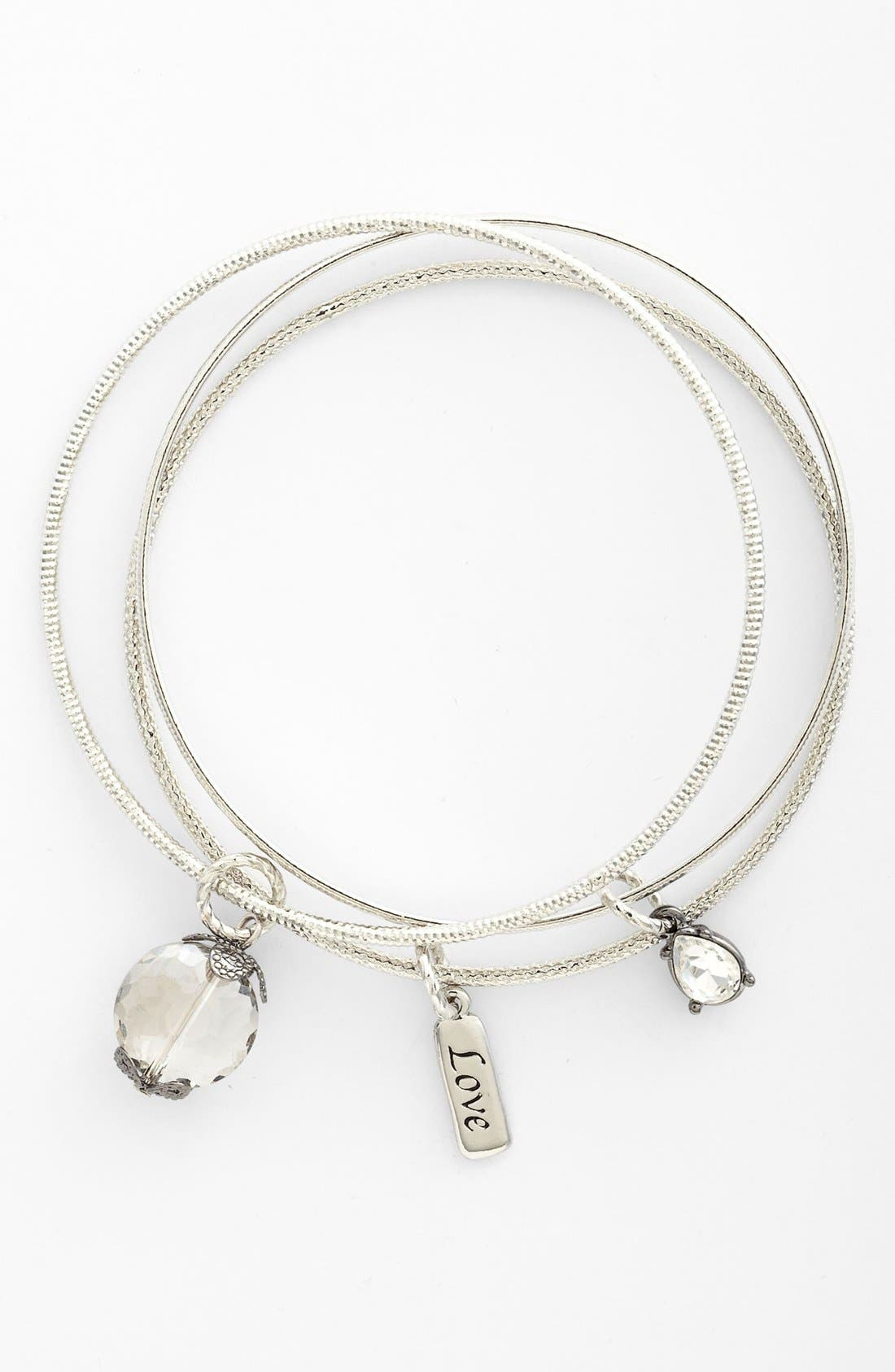 Main Image - Nordstrom 'Love Languages' Charm Bangles (Set of 3)