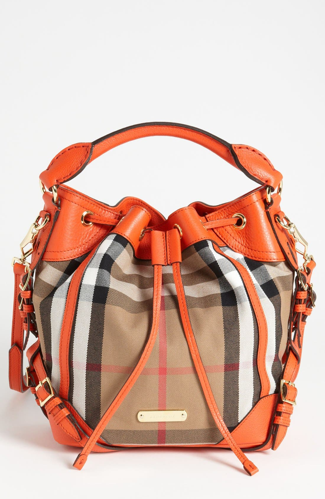 Alternate Image 1 Selected - Burberry 'House Check - Medium' Drawstring Crossbody Bag