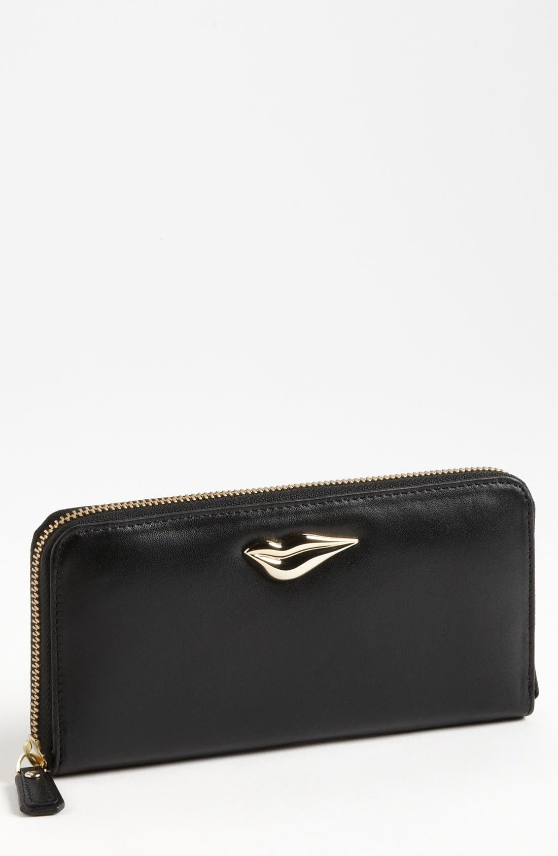 Alternate Image 1 Selected - Diane von Furstenberg 'Lips' Leather Wallet