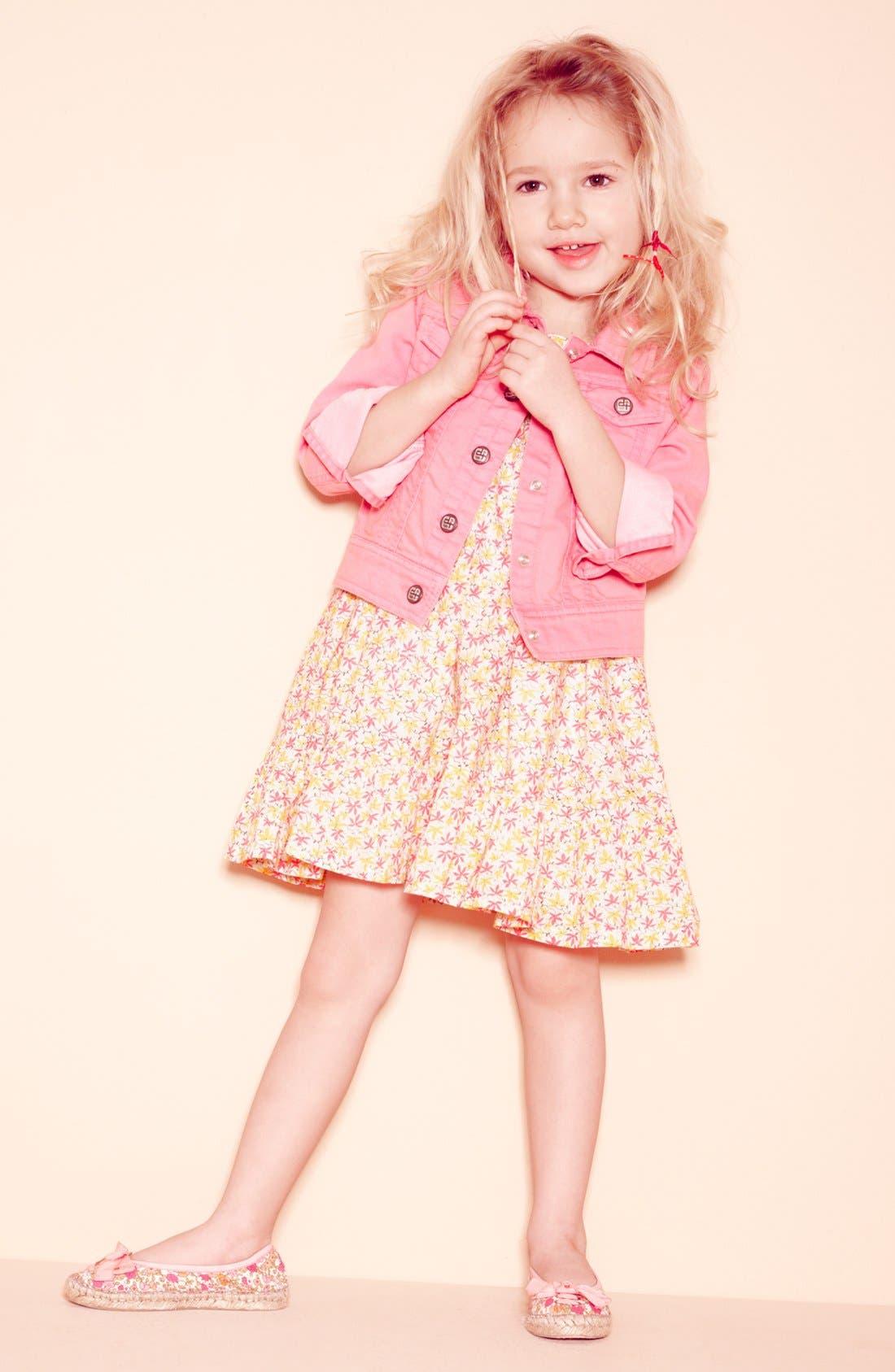 Main Image - Tucker + Tate Jacket & Dress & Peek Slip-On (Toddler)