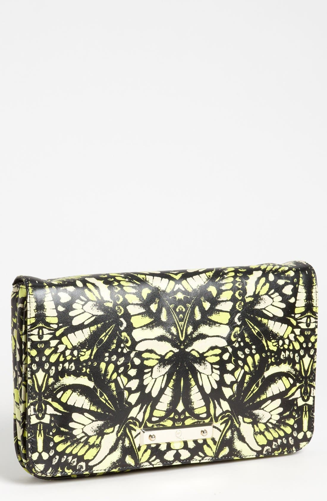 Main Image - McQ by Alexander McQueen 'Metal Plate' Print Leather Clutch
