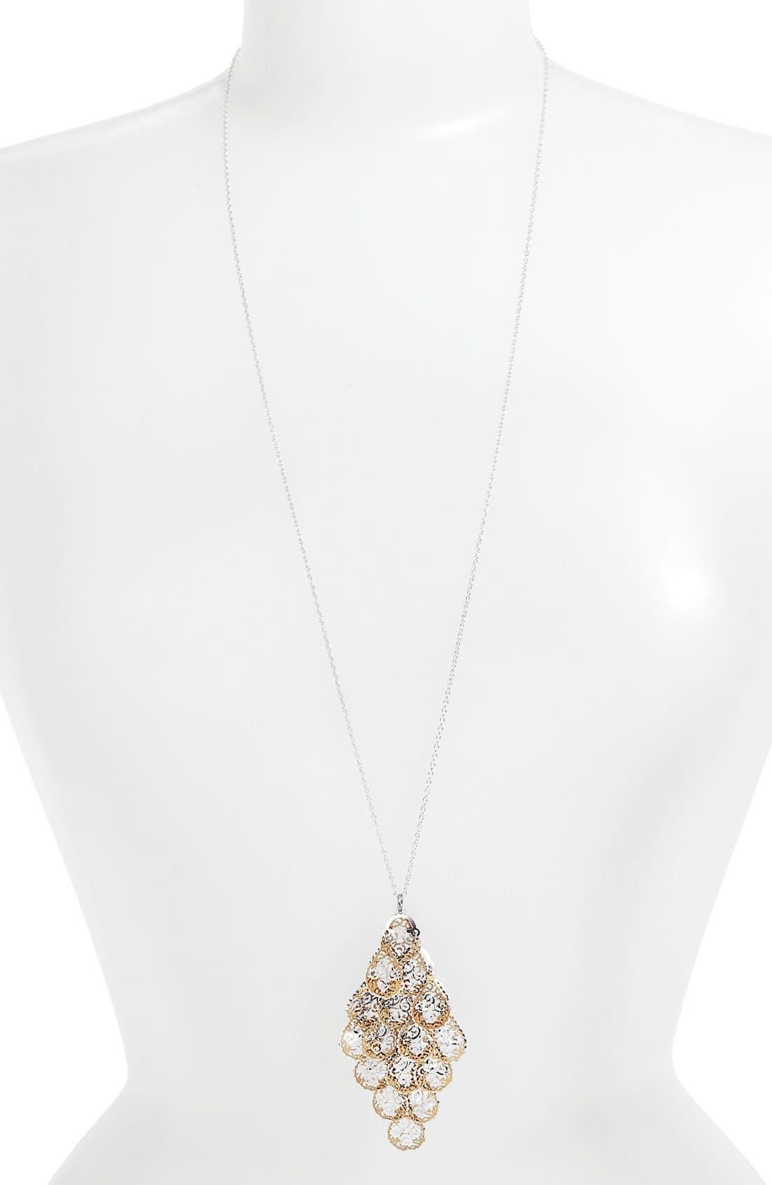 Alternate Image 1 Selected - Argento Vivo Long Pendant Necklace