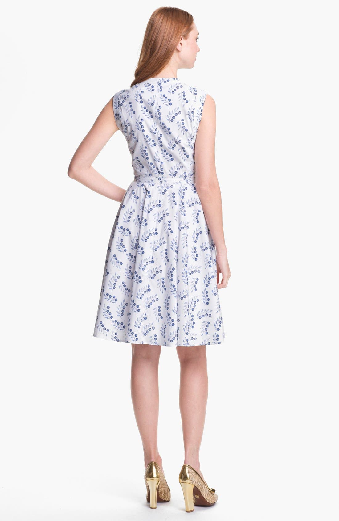 Alternate Image 2  - Tory Burch 'Talley' Cotton Blend Fit & Flare Dress
