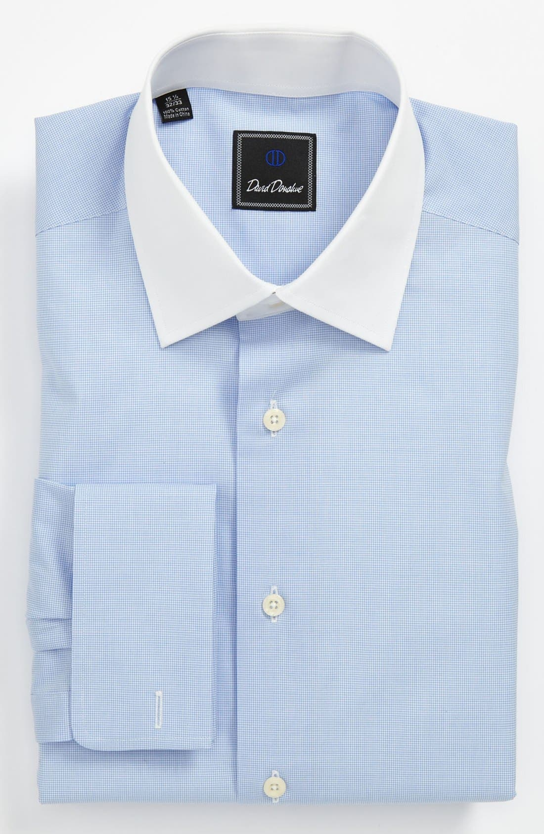 Main Image - David Donahue Traditional Fit Dress Shirt