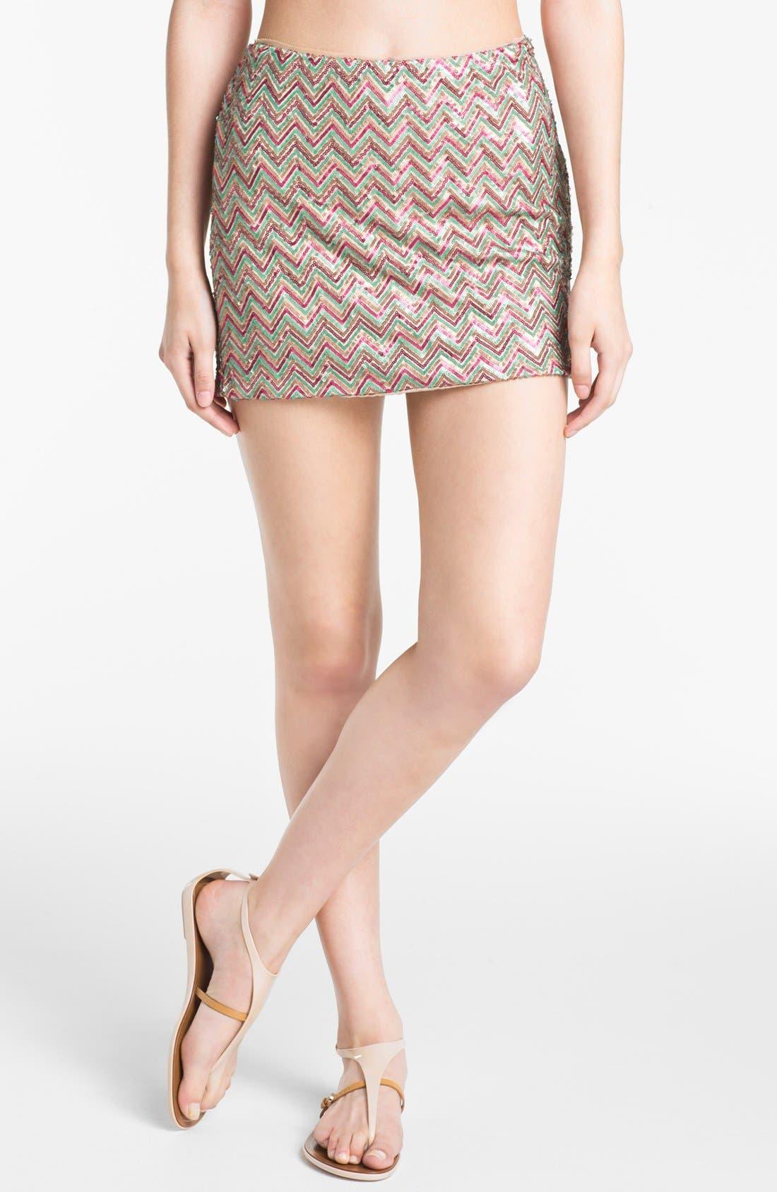 Alternate Image 1 Selected - Ella Moss Sequin Skirt