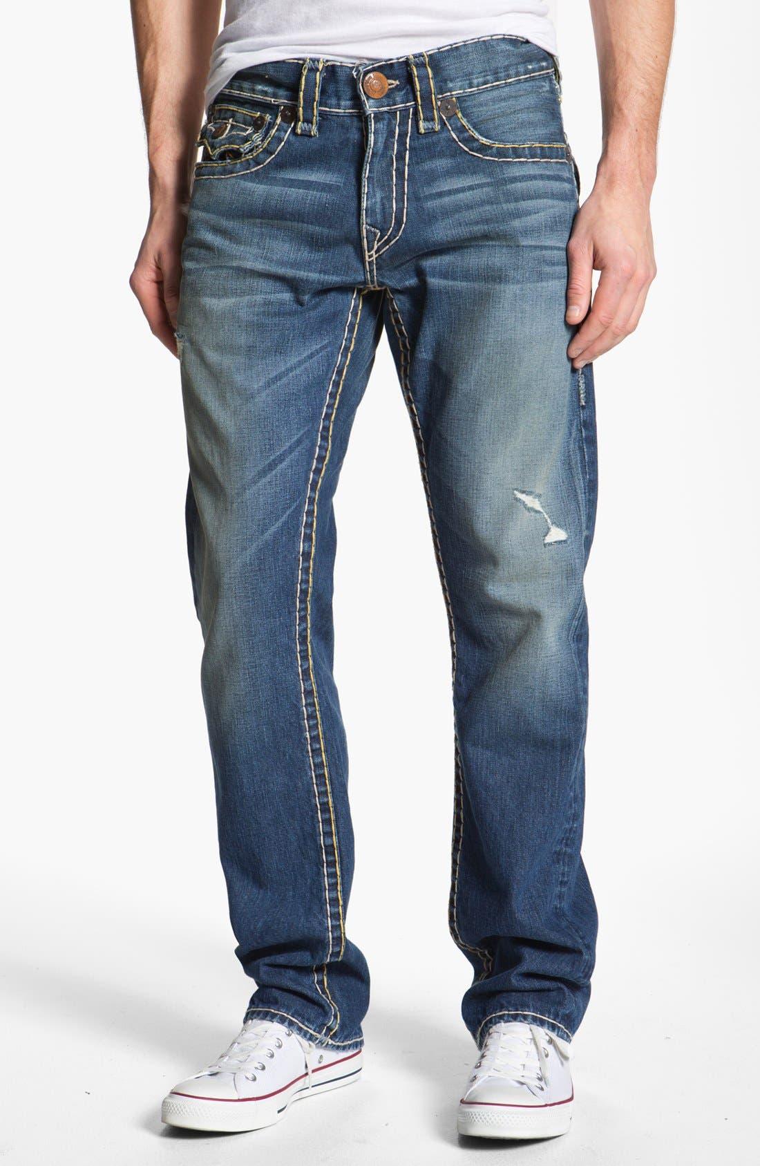 Alternate Image 2  - True Religion Brand Jeans 'Ricky' Straight Leg Jeans (Tribute)