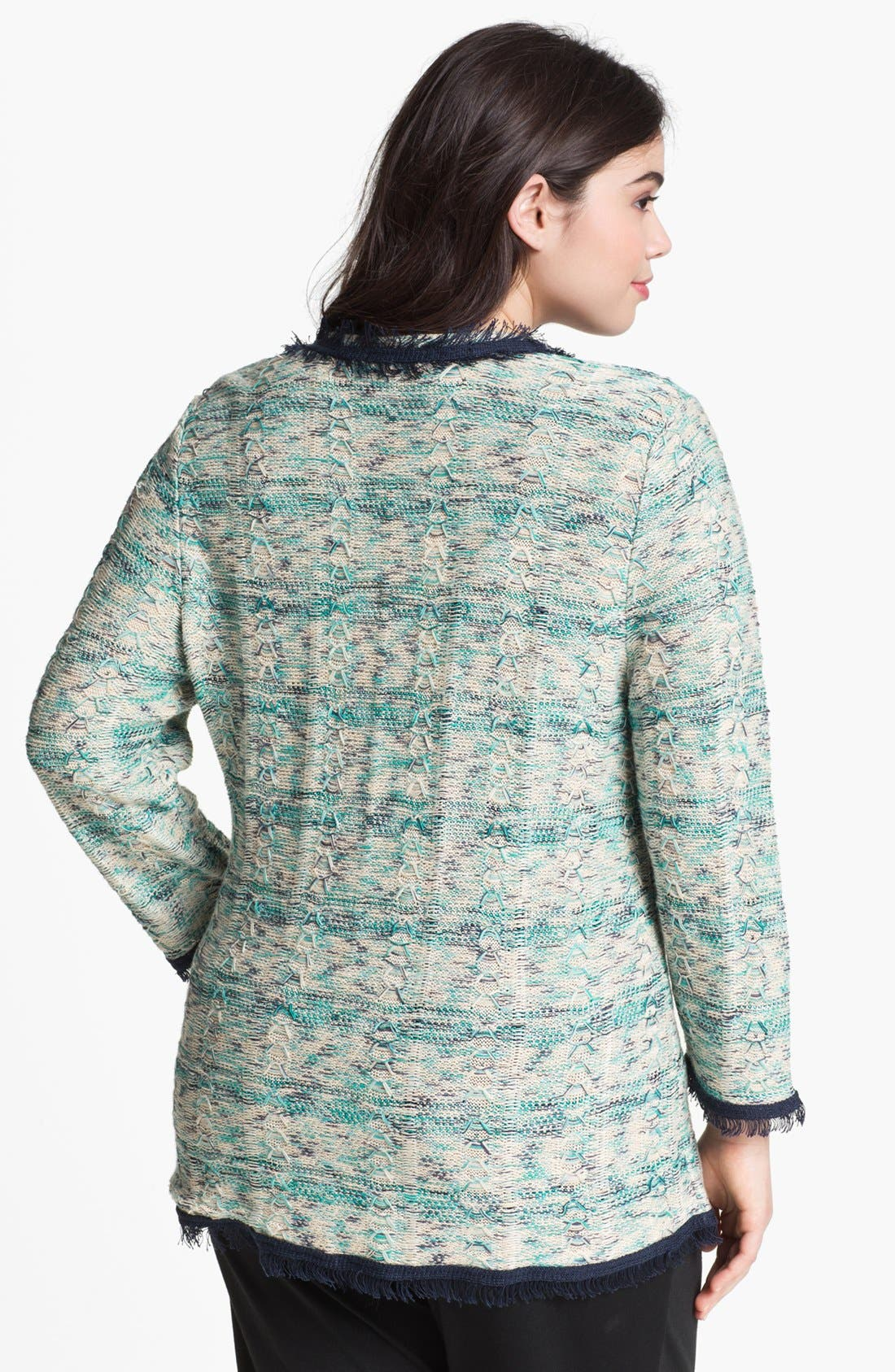 Alternate Image 2  - Nic + Zoe 'Tweedy' Knit Jacket (Plus Size)