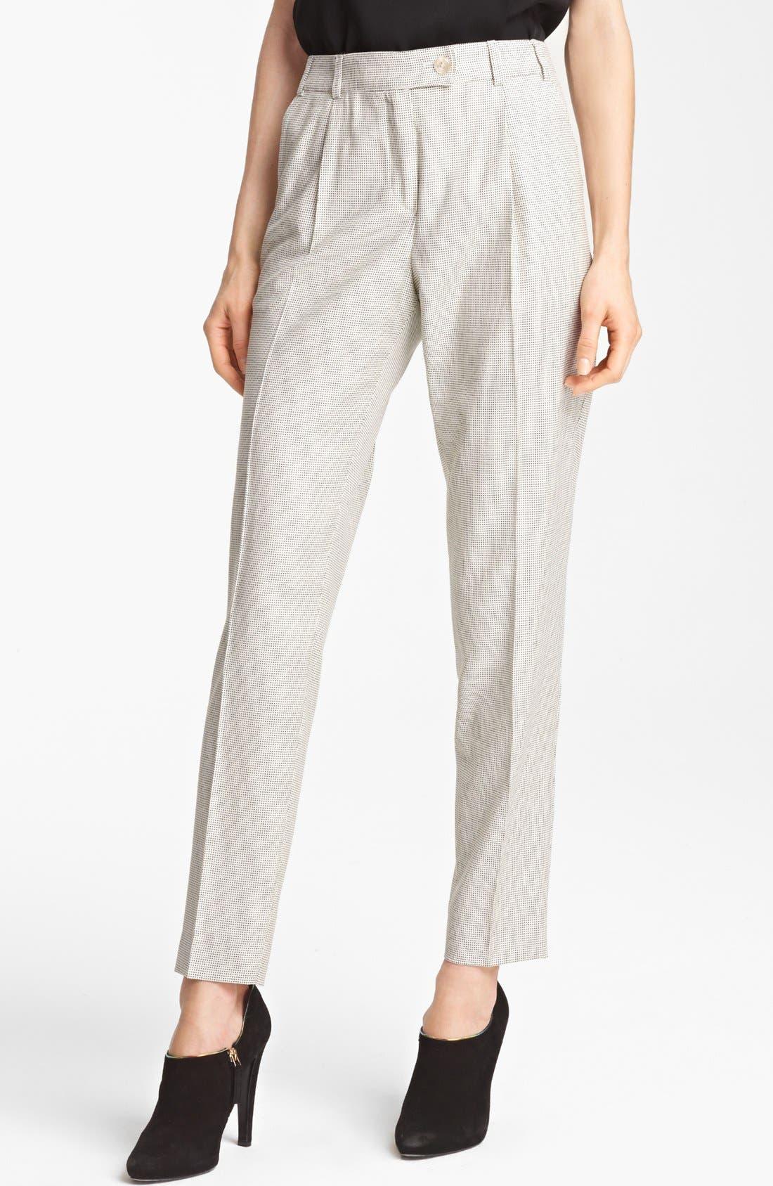 Alternate Image 1 Selected - Armani Collezioni Narrow Leg Pants