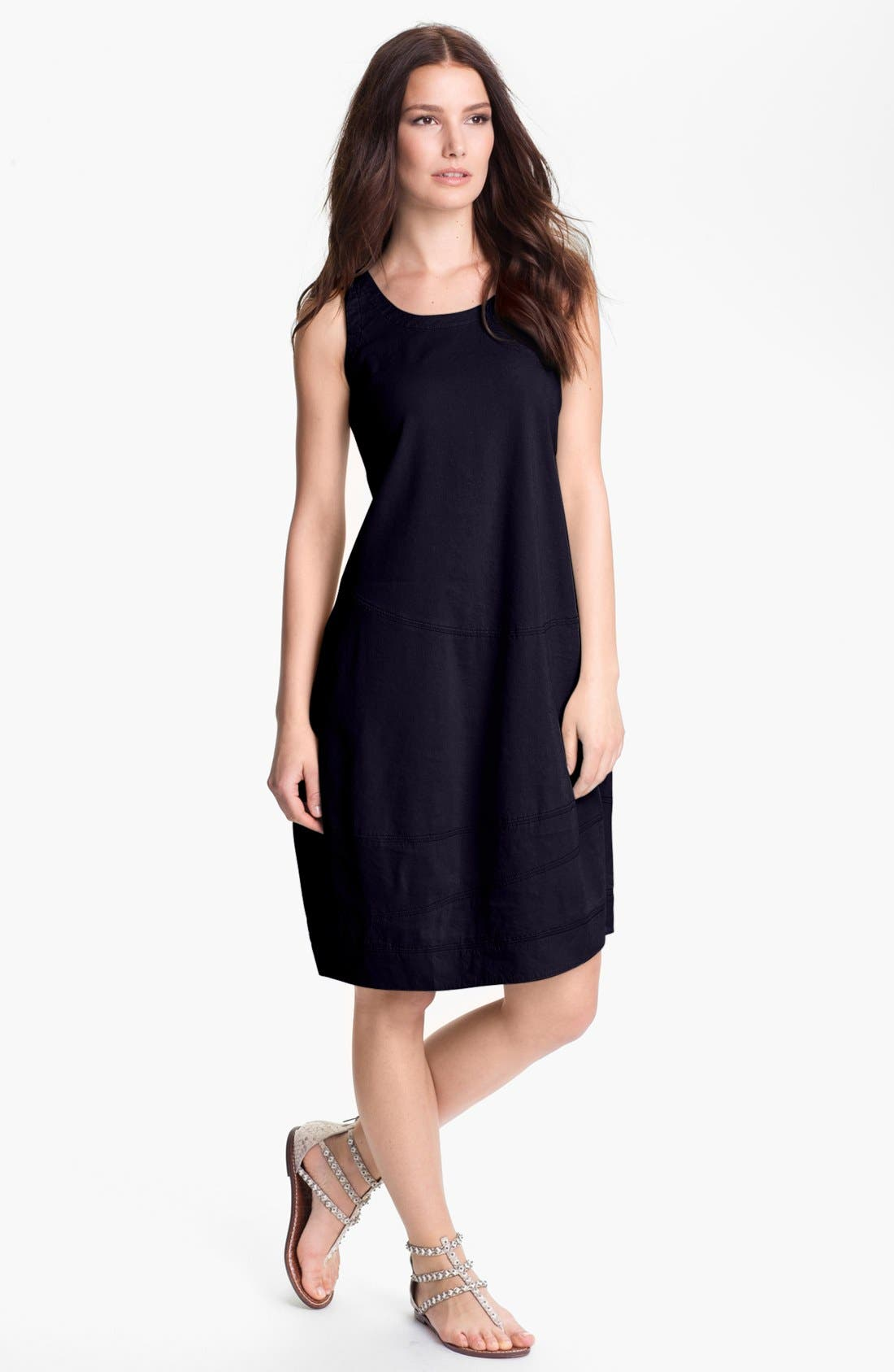 Alternate Image 1 Selected - Eileen Fisher Linen Blend Lantern Dress