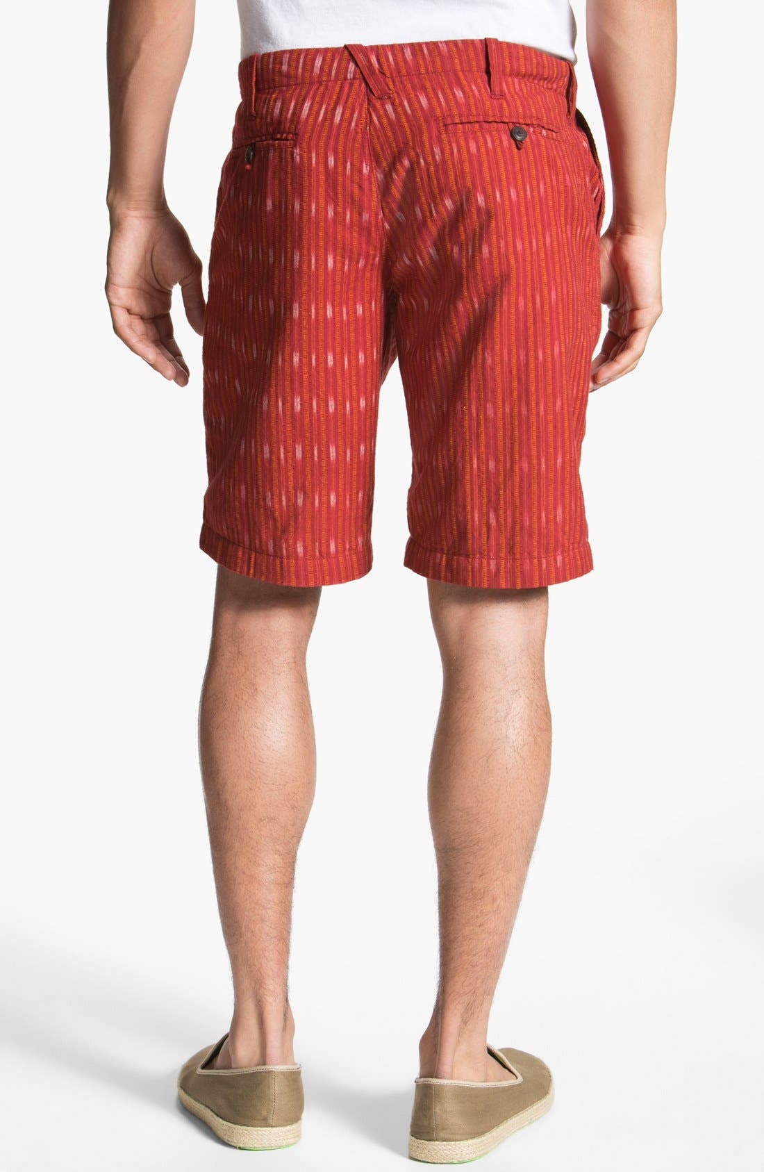 Alternate Image 2  - Burkman Bros Stripe Woven Shorts