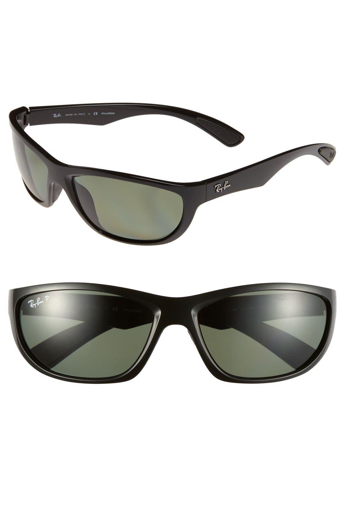 Alternate Image 1 Selected - Ray-Ban 63mm Polarized Sunglasses
