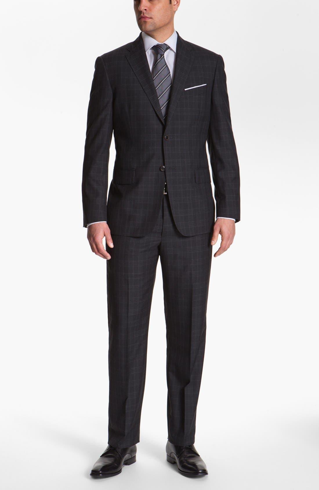 Main Image - Joseph Abboud 'Platinum' Plaid Wool Suit