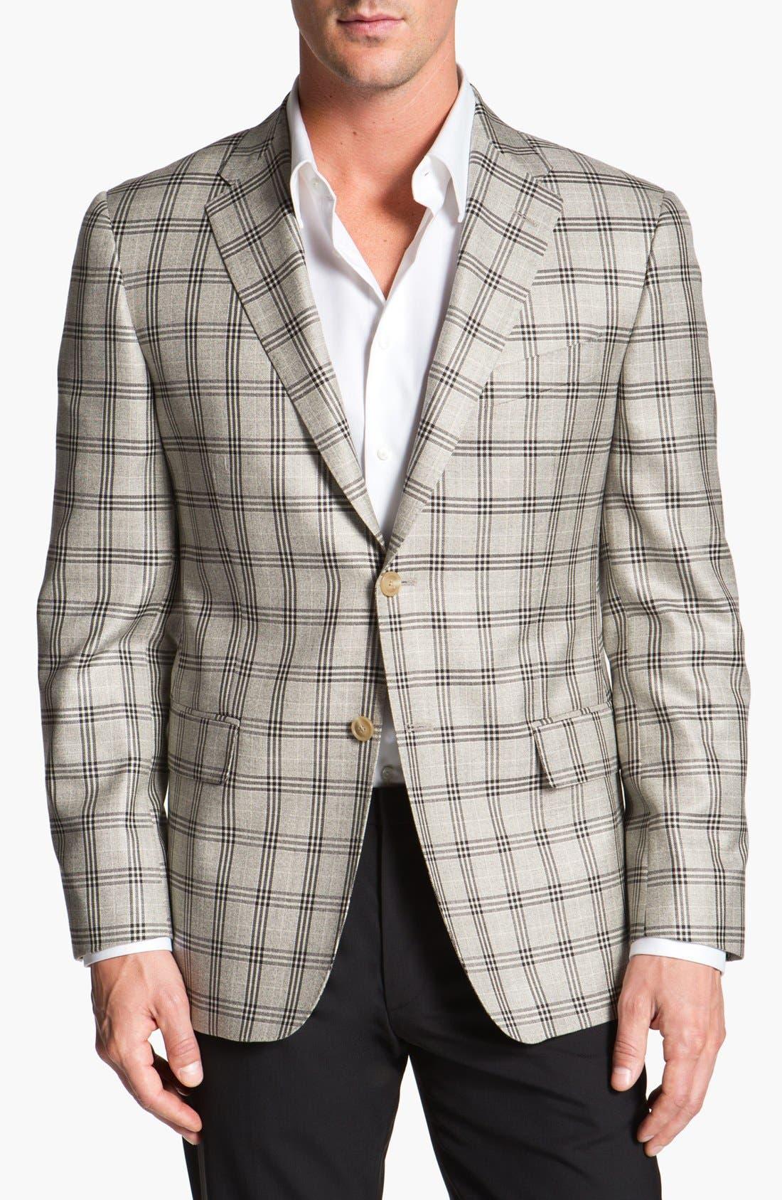 Main Image - Joseph Abboud 'Platinum' Plaid Wool Sportcoat