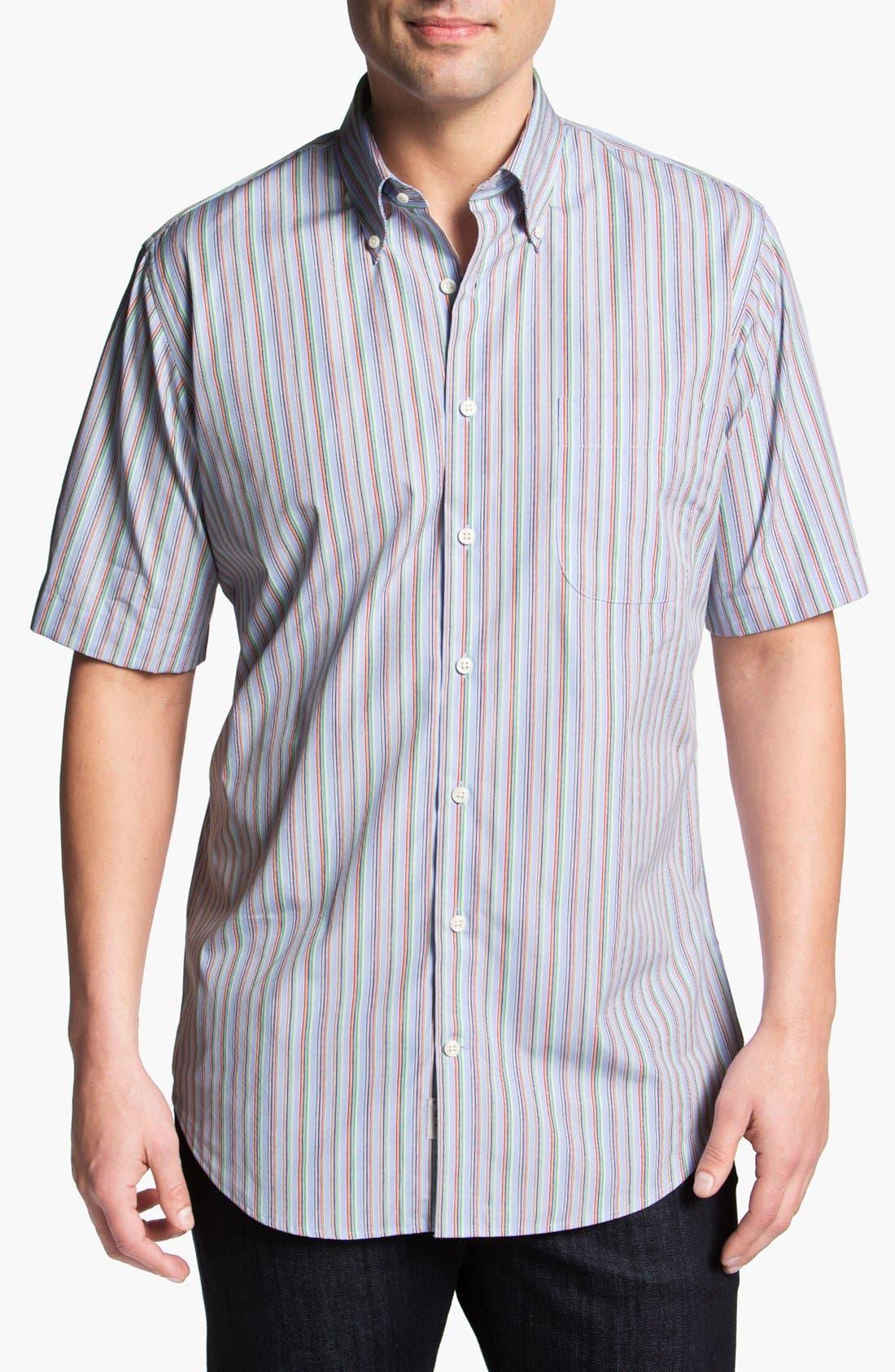 Alternate Image 1 Selected - Peter Millar 'Pop' Regular Fit Short Sleeve Sport Shirt