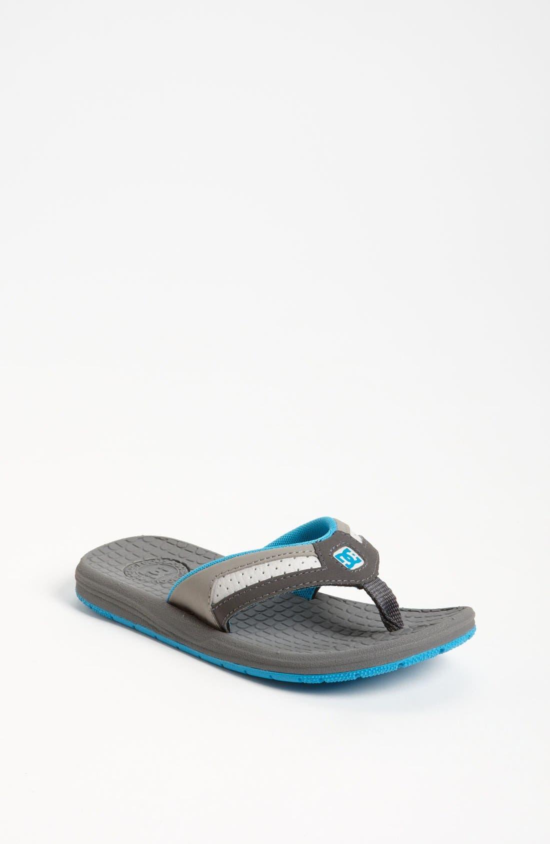 Alternate Image 1 Selected - DC Shoes 'Cabo' Flip Flop (Toddler, Little Kid & Big Kid)