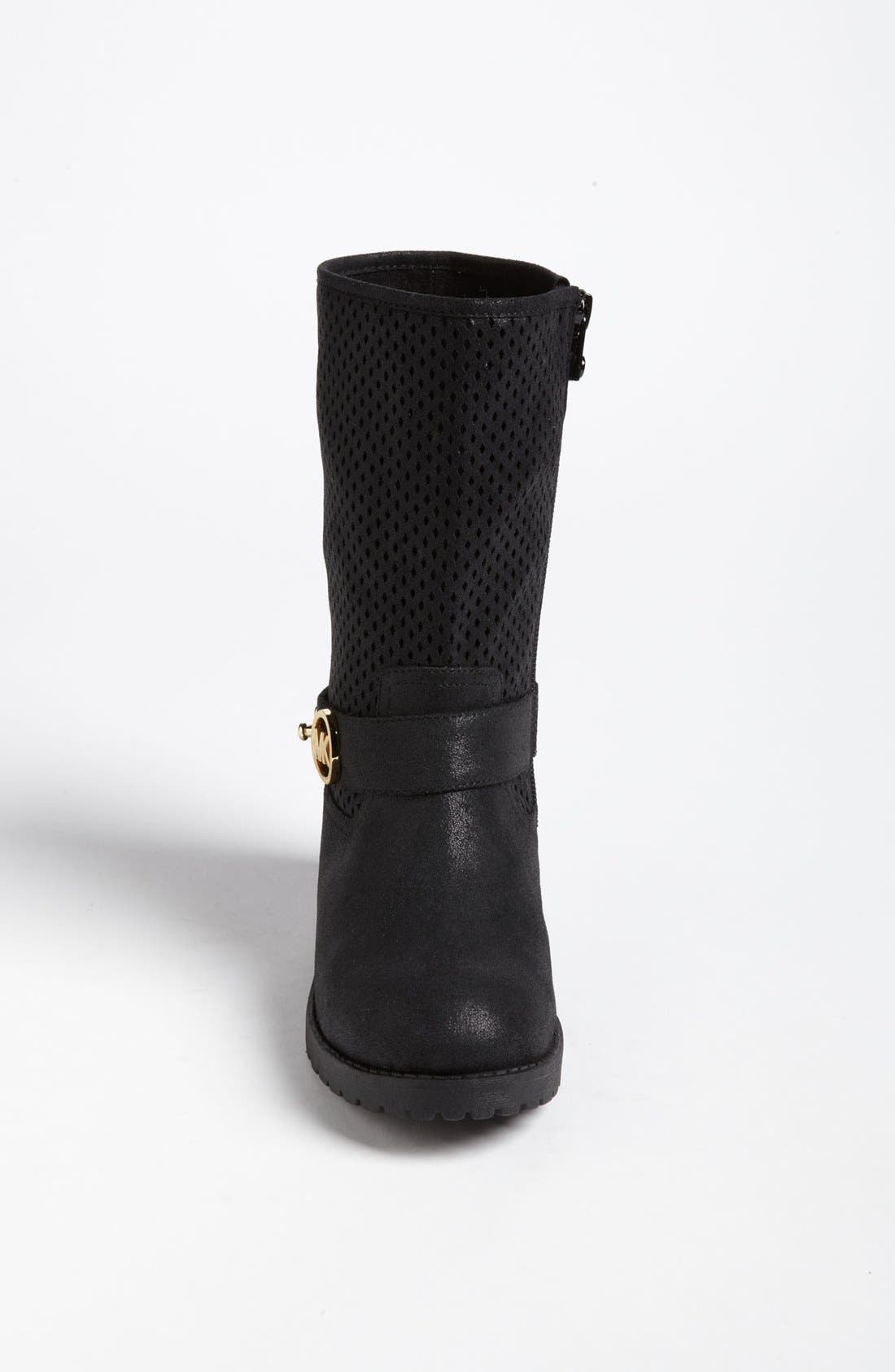 Alternate Image 3  - MICHAEL Michael Kors Perforated Shaft Boot (Toddler, Little Kid & Big Kid) (Online Only)
