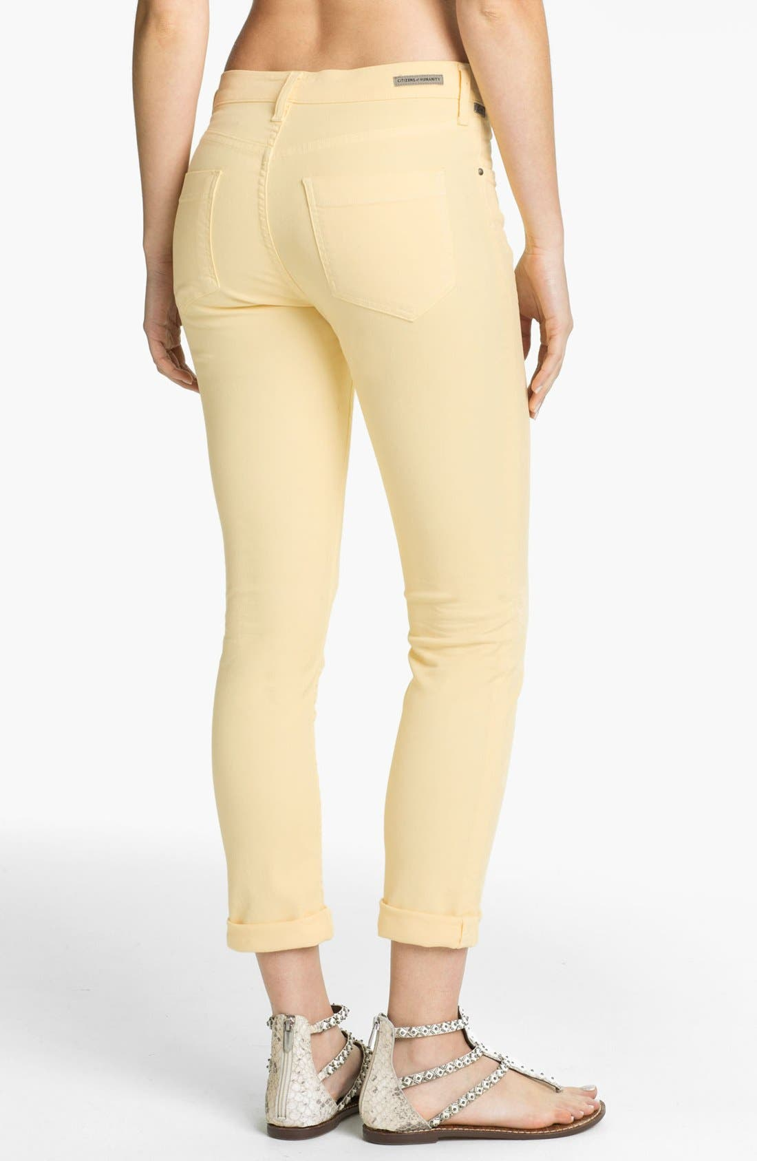Alternate Image 2  - Citizens of Humanity 'Carlton' Crop Skinny Jeans (Meringue)