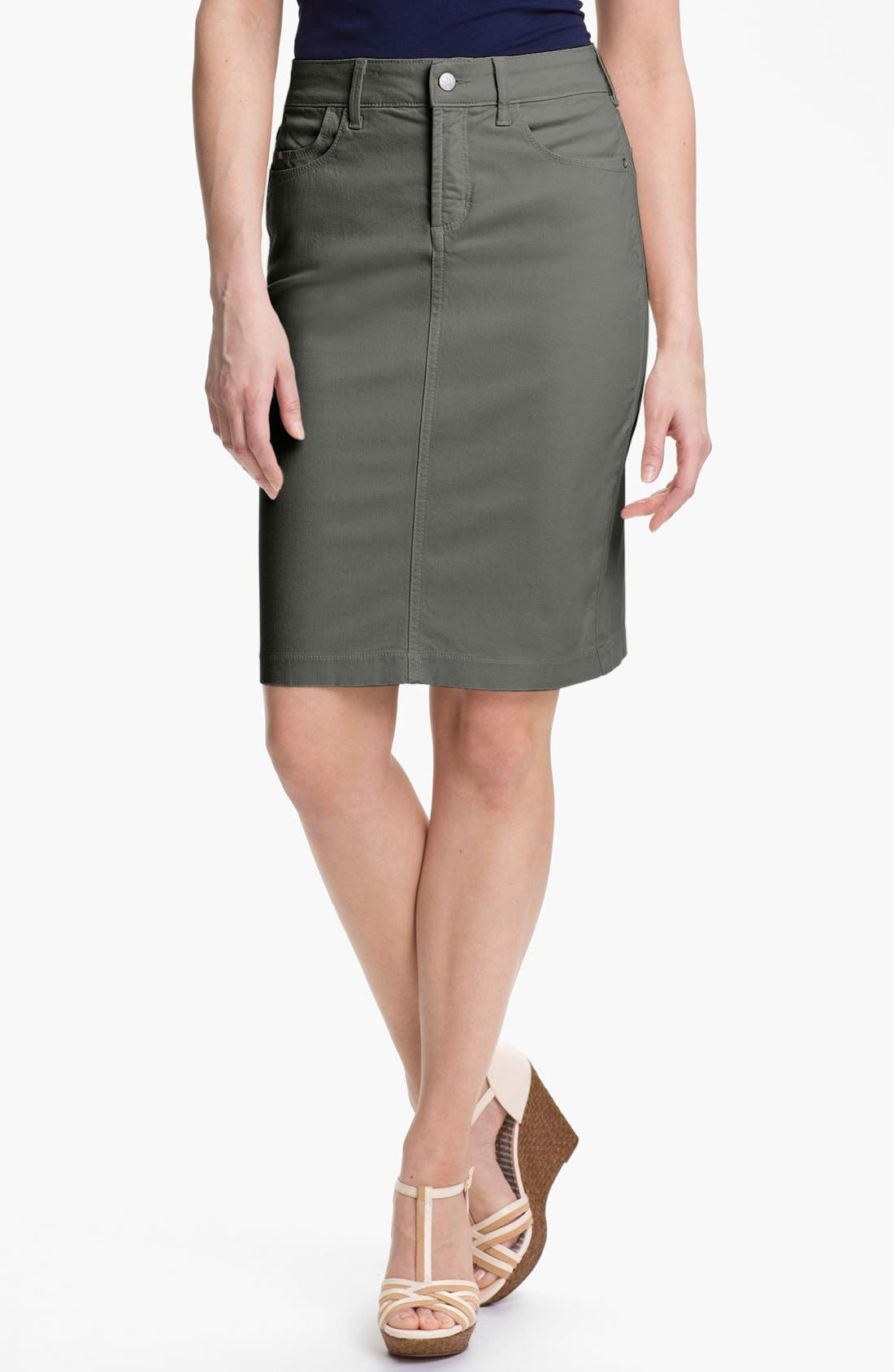 Alternate Image 1 Selected - NYDJ 'Emma' Stretch Twill Skirt