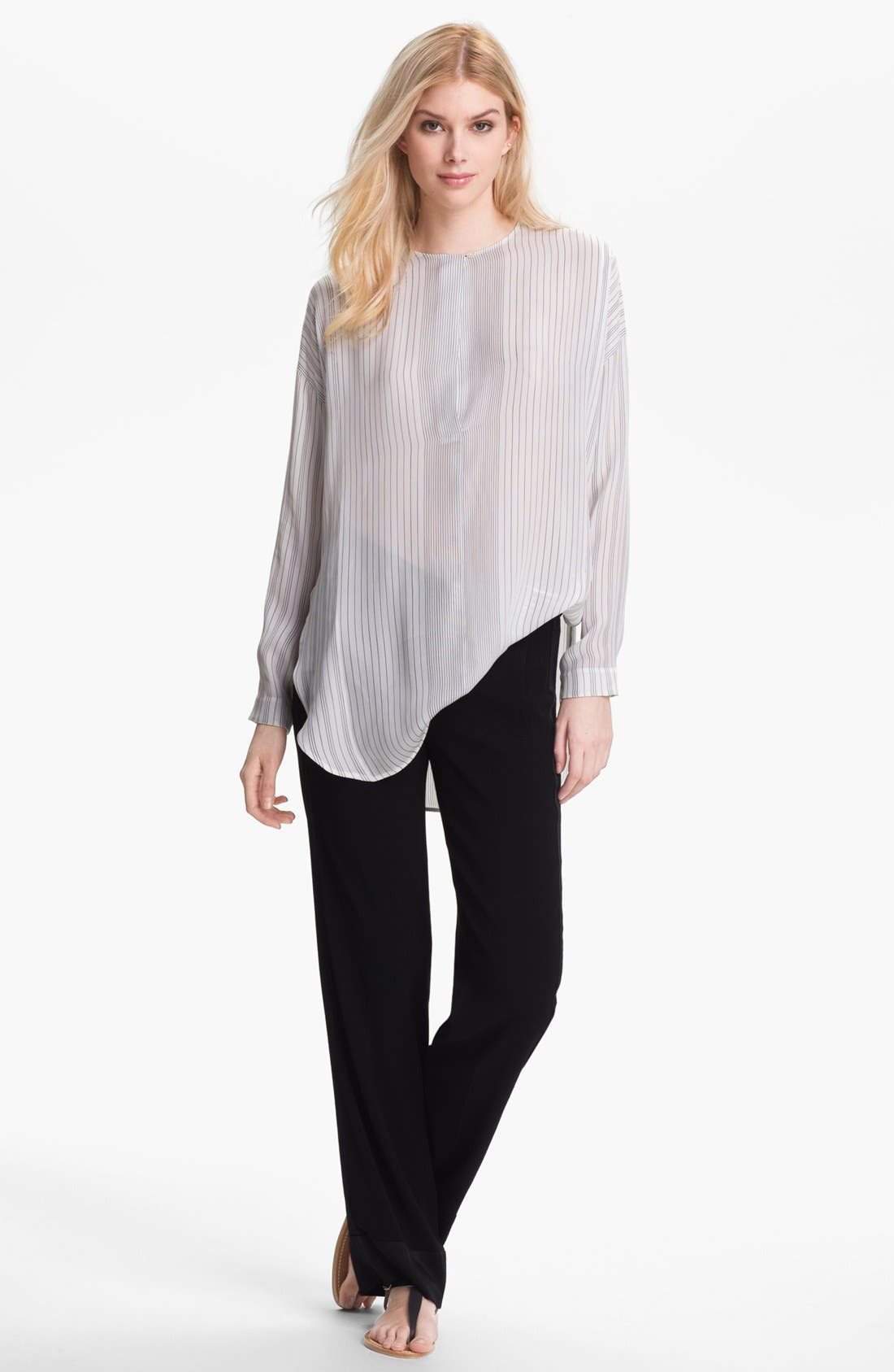 Alternate Image 1 Selected - Vince Stripe Silk Top